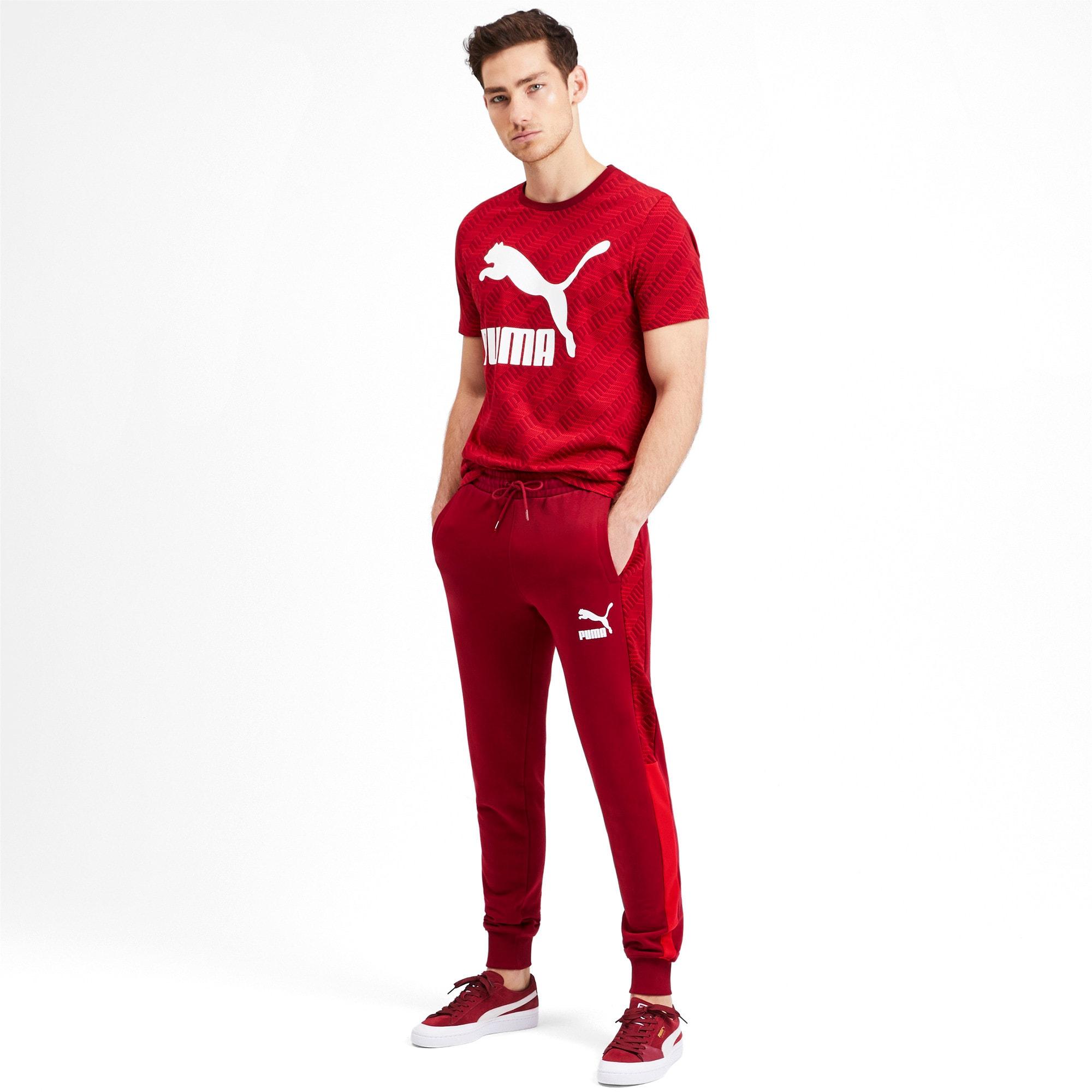 Thumbnail 4 of T7 Men's AOP Track Pants, Rhubarb-Repeat logo, medium