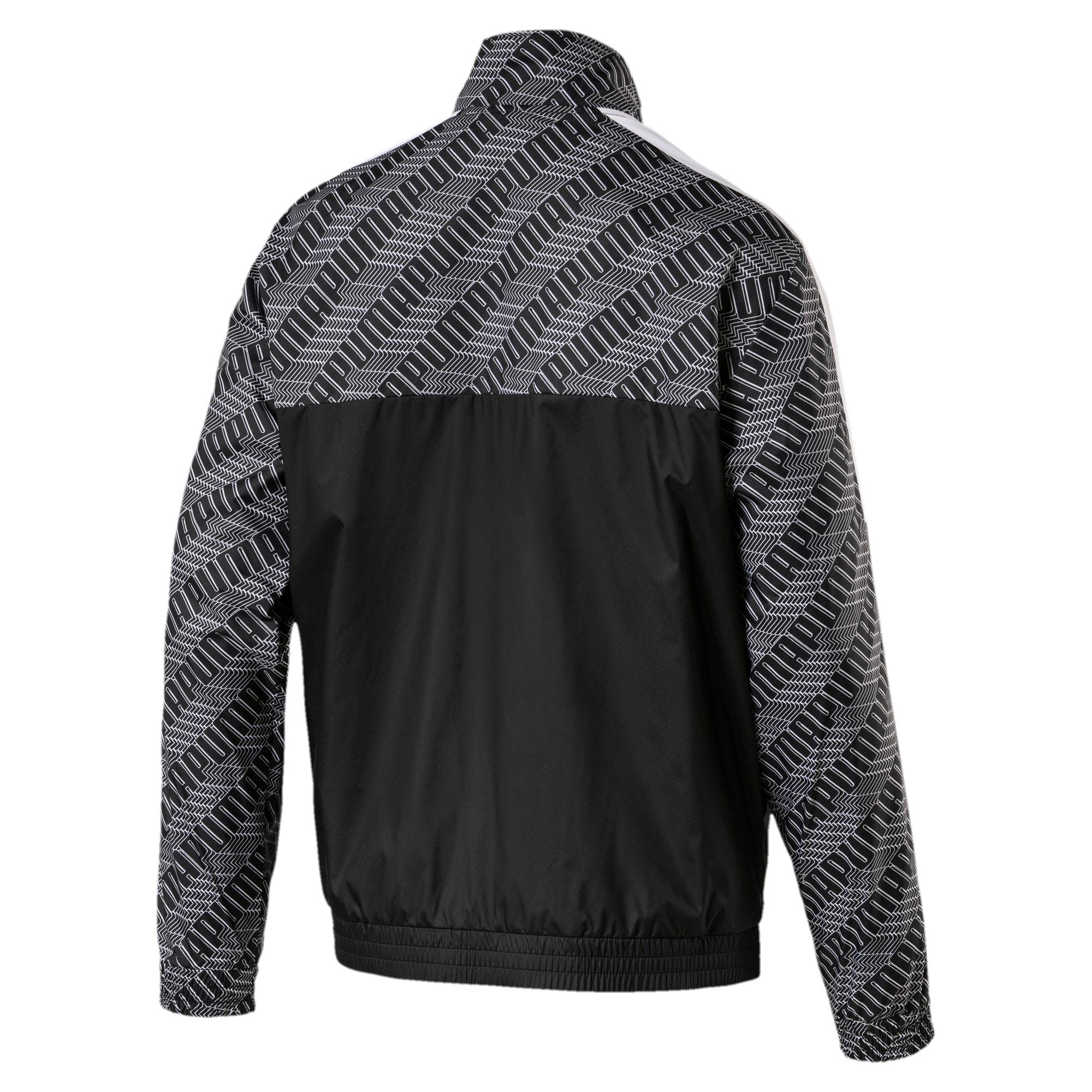 Thumbnail 5 of T7 Men's AOP Track Jacket, Puma Black-Repeat logo, medium