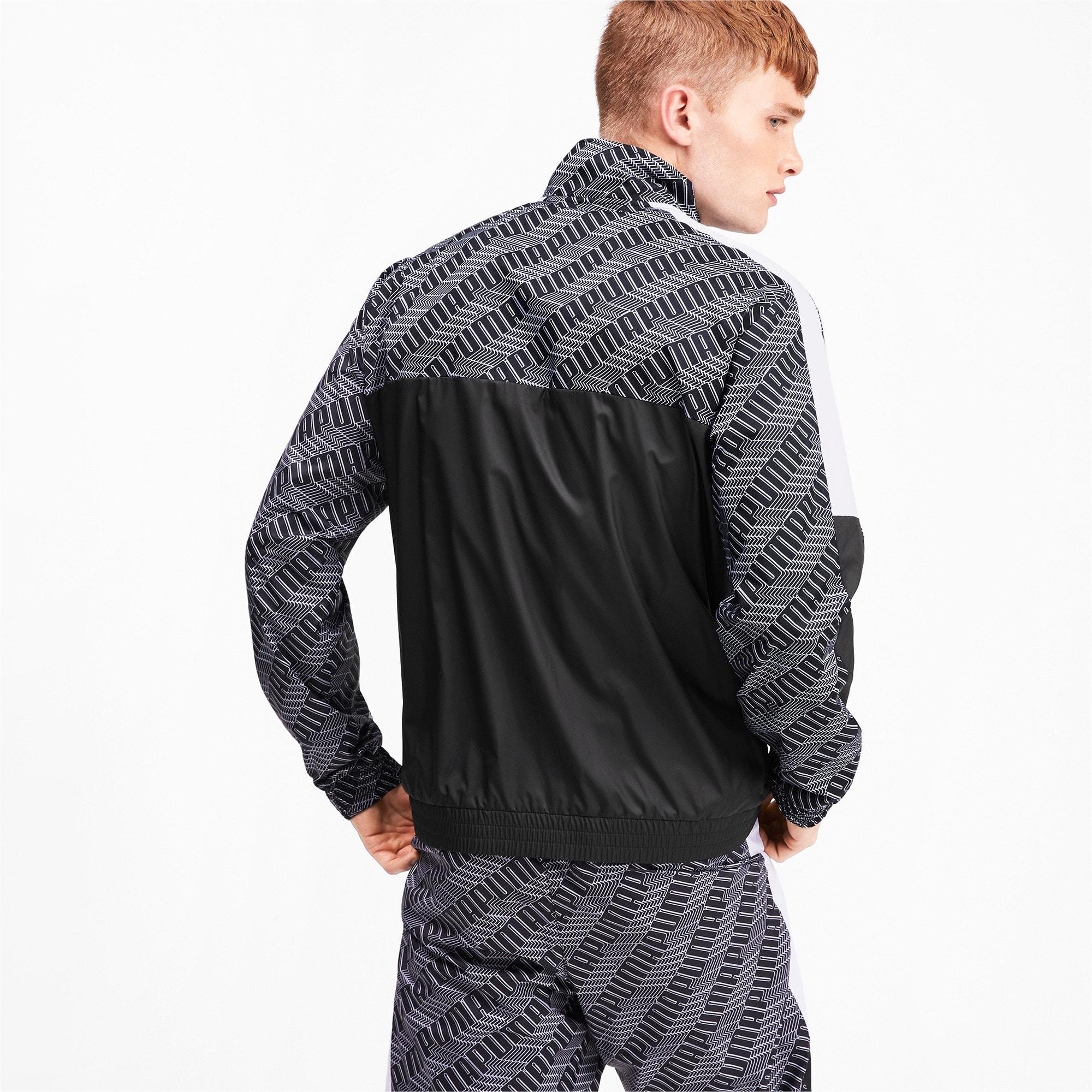 Thumbnail 3 of T7 Men's AOP Track Jacket, Puma Black-Repeat logo, medium