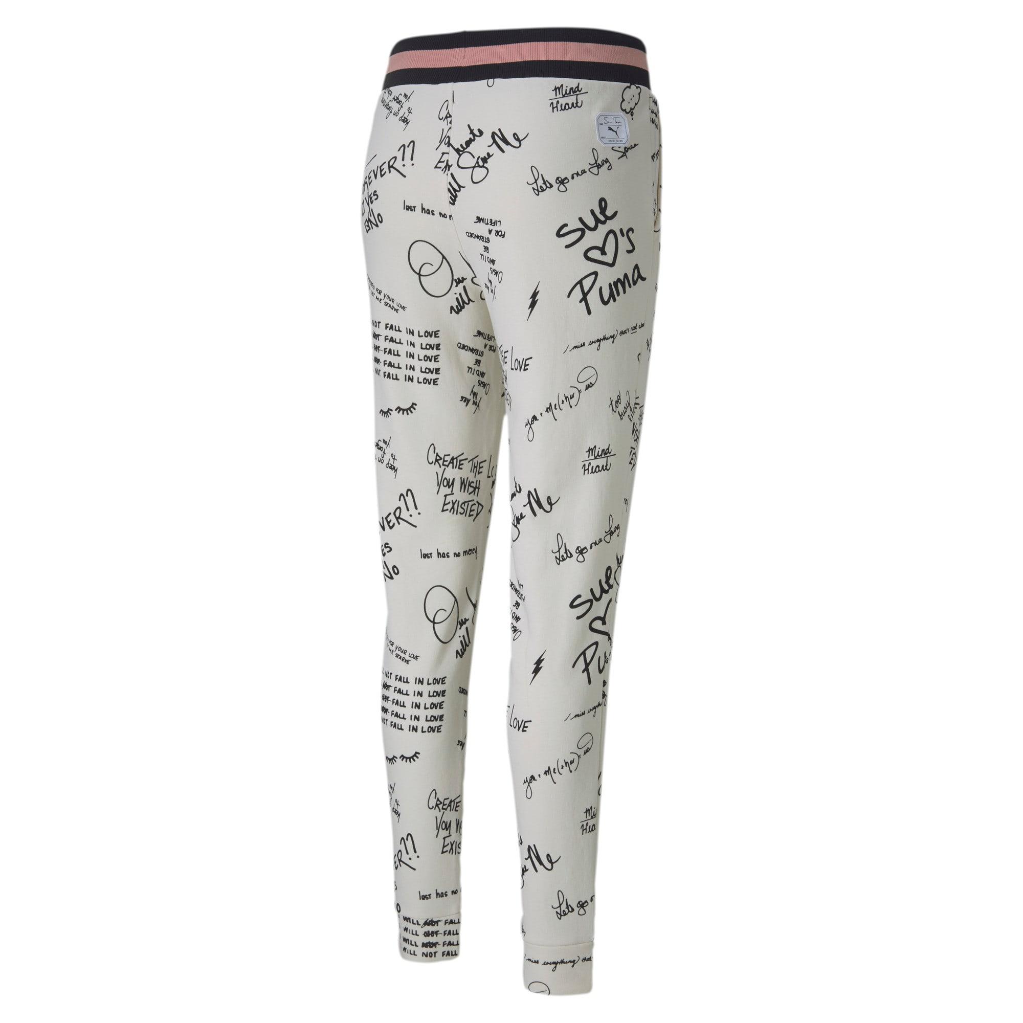 Thumbnail 2 of PUMA x SUE TSAI Knitted Women's Sweatpants, Whisper White, medium