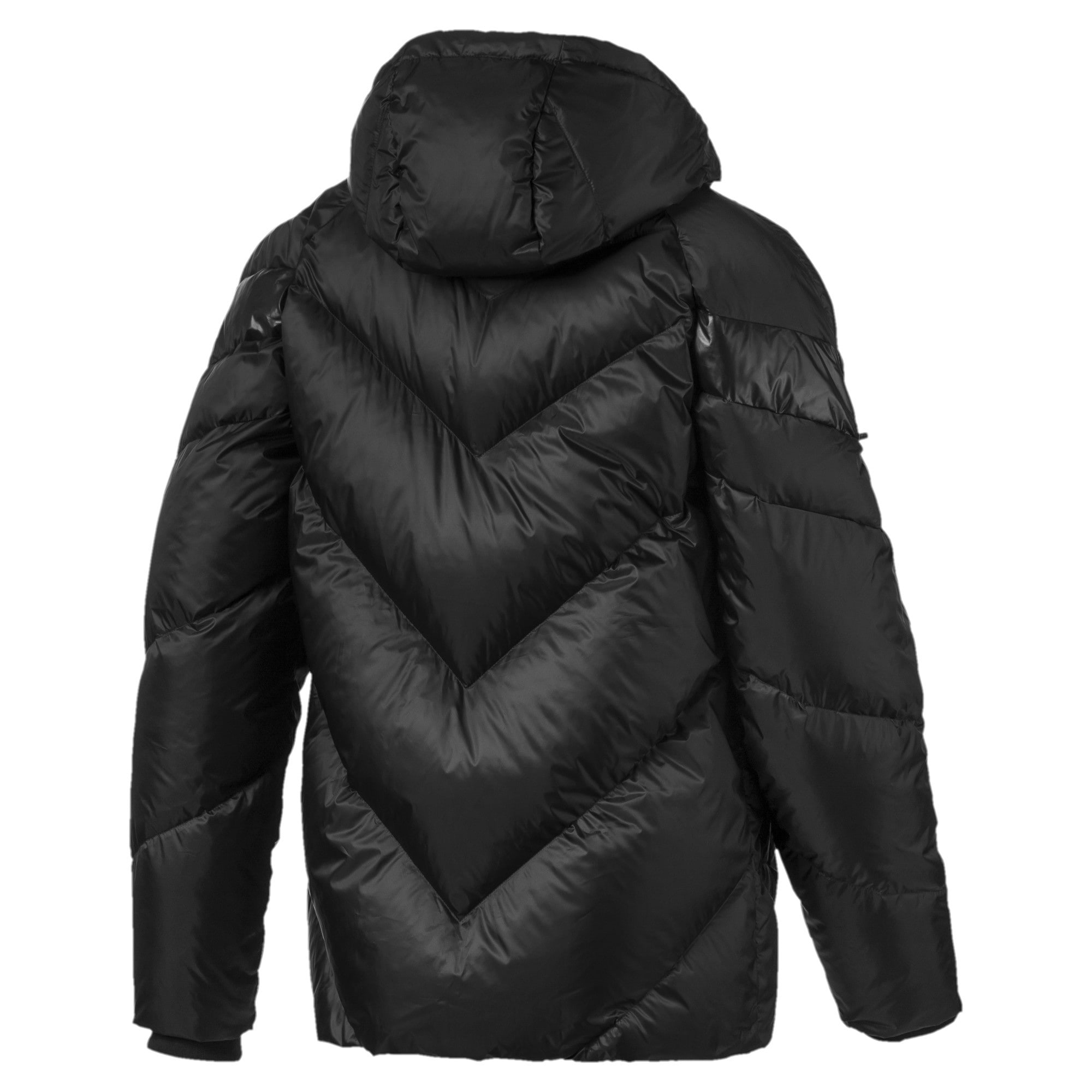 Thumbnail 5 of MCS Shiny Hooded Men's Puffer Down Jacket, Puma Black, medium