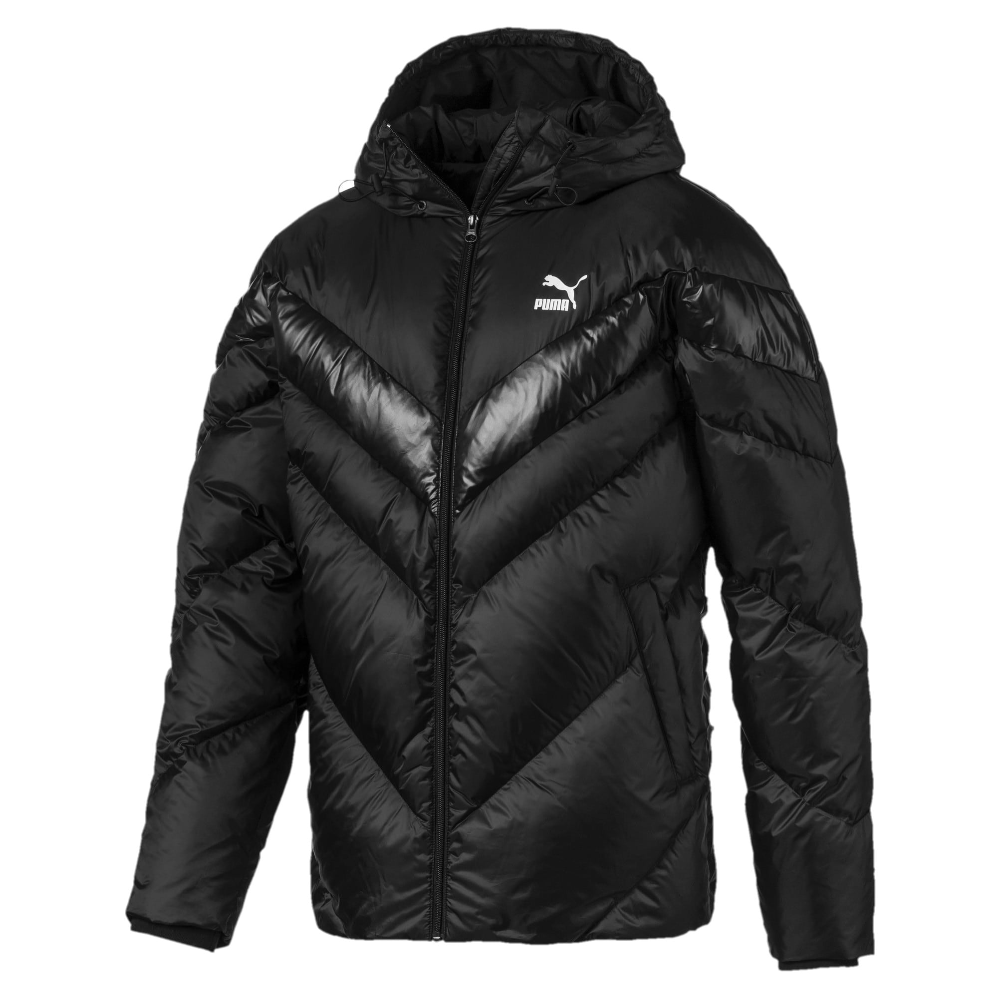 Thumbnail 1 of MCS Shiny Hooded Men's Puffer Down Jacket, Puma Black, medium