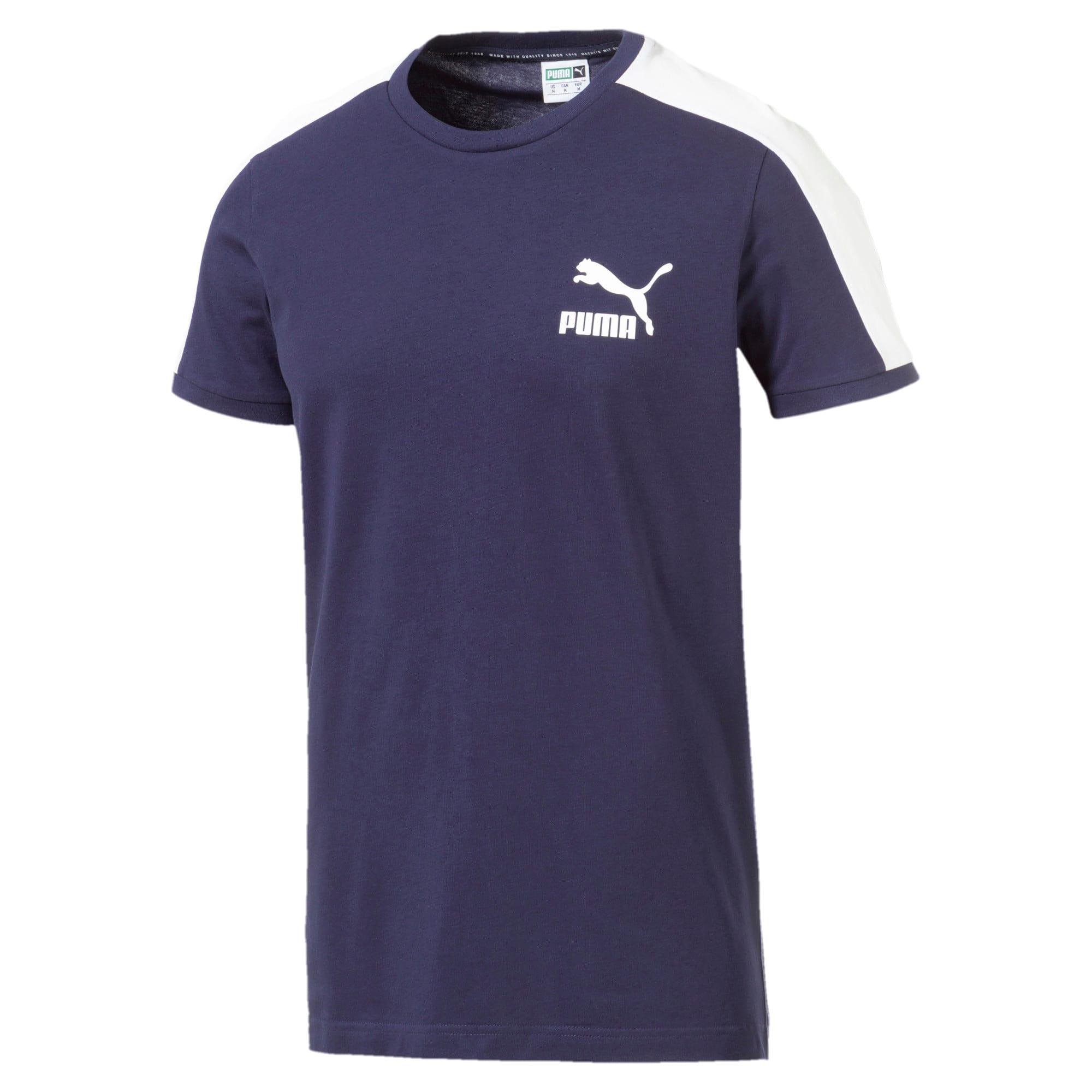 Thumbnail 4 van Iconisch T7 T-shirt voor mannen, Nachtblauw, medium