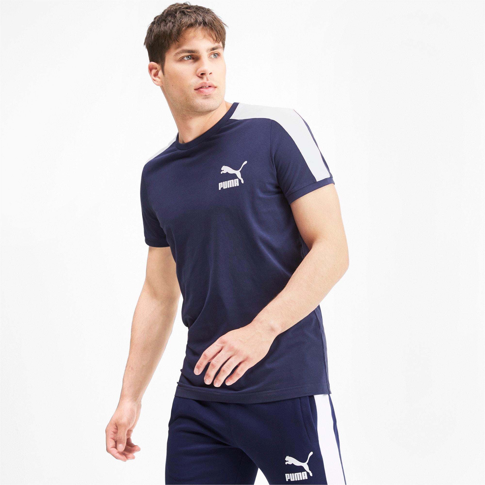 Thumbnail 1 van Iconisch T7 T-shirt voor mannen, Nachtblauw, medium