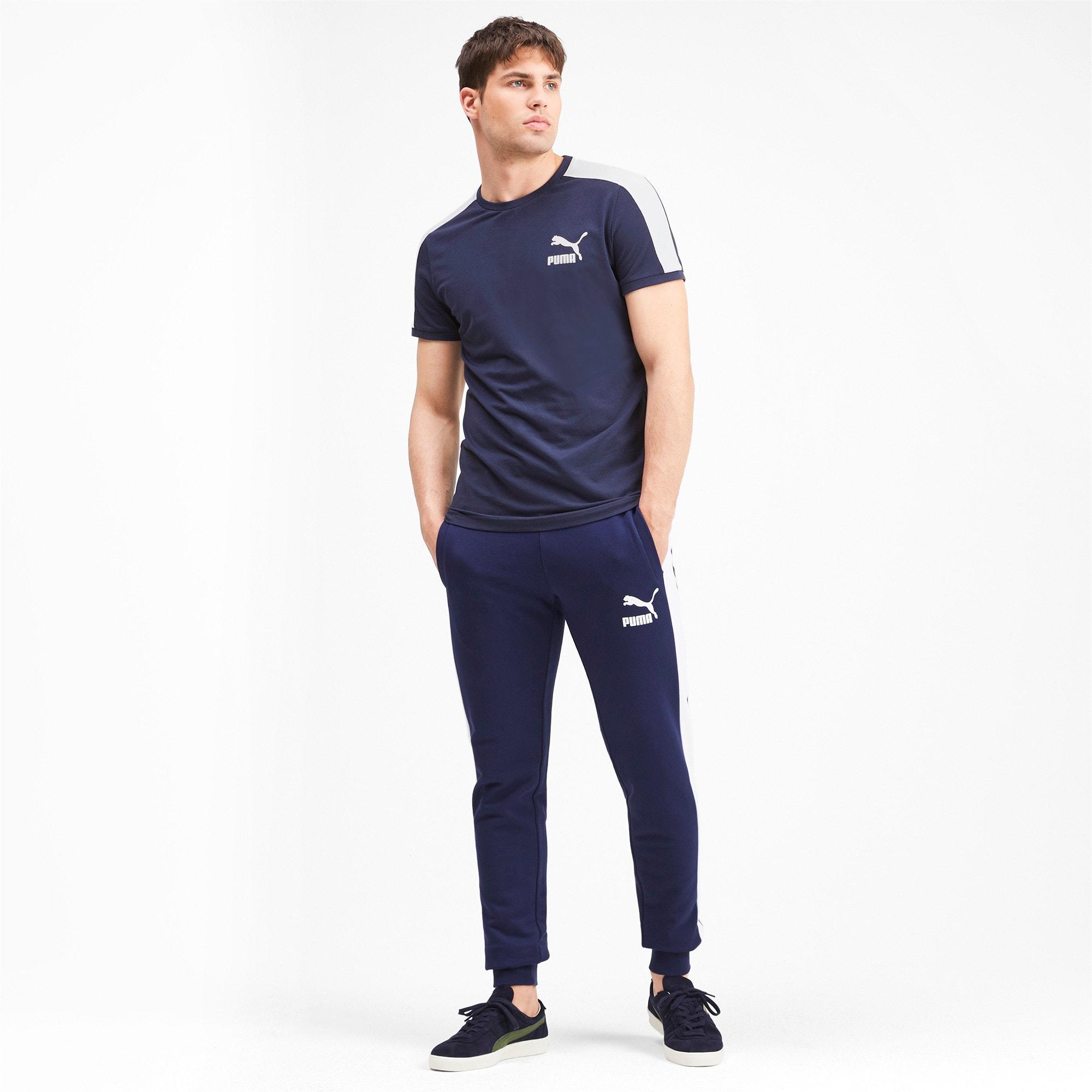 Thumbnail 3 van Iconisch T7 T-shirt voor mannen, Nachtblauw, medium