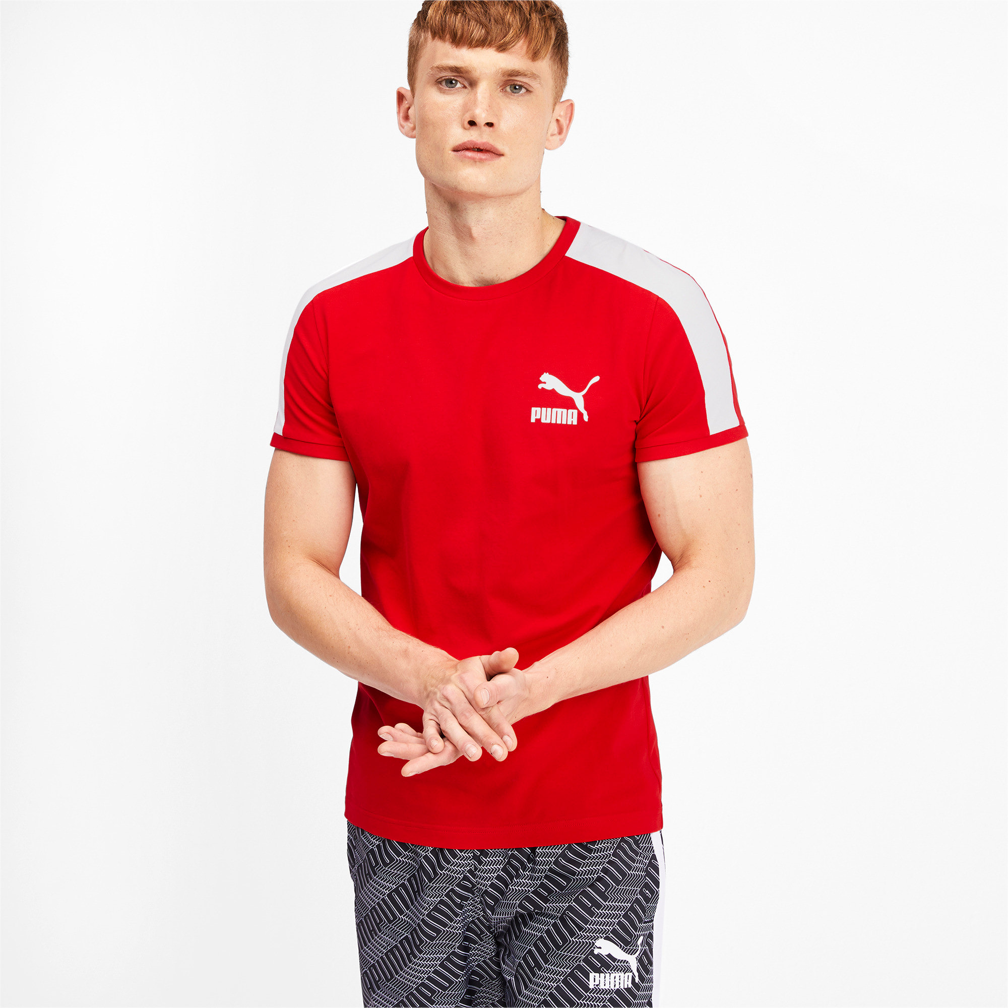 Thumbnail 1 of Iconic T7 Men's Tee, High Risk Red, medium