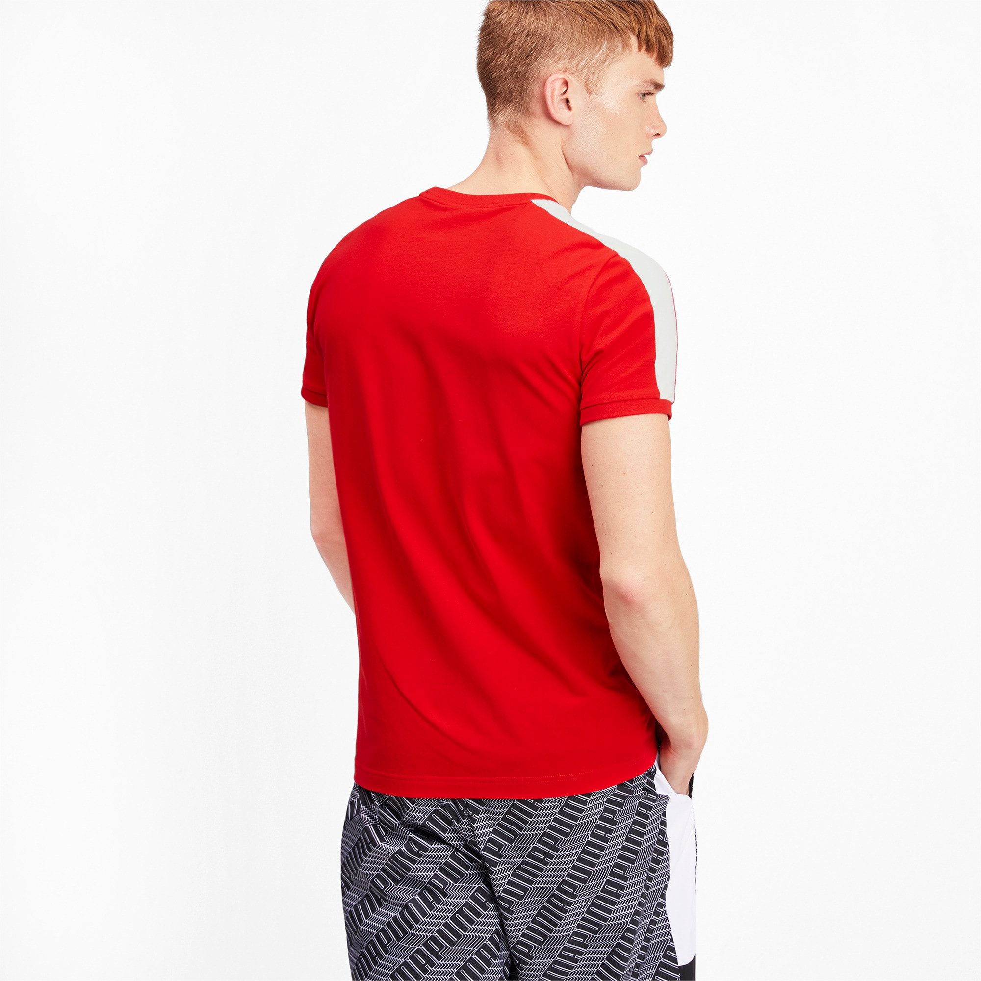 Thumbnail 2 of Iconic T7 Men's Tee, High Risk Red, medium