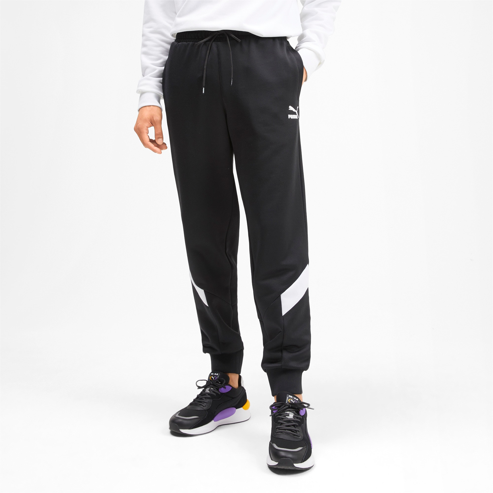 Iconic MCS Knitted Men's Track Pants, Puma Black, large