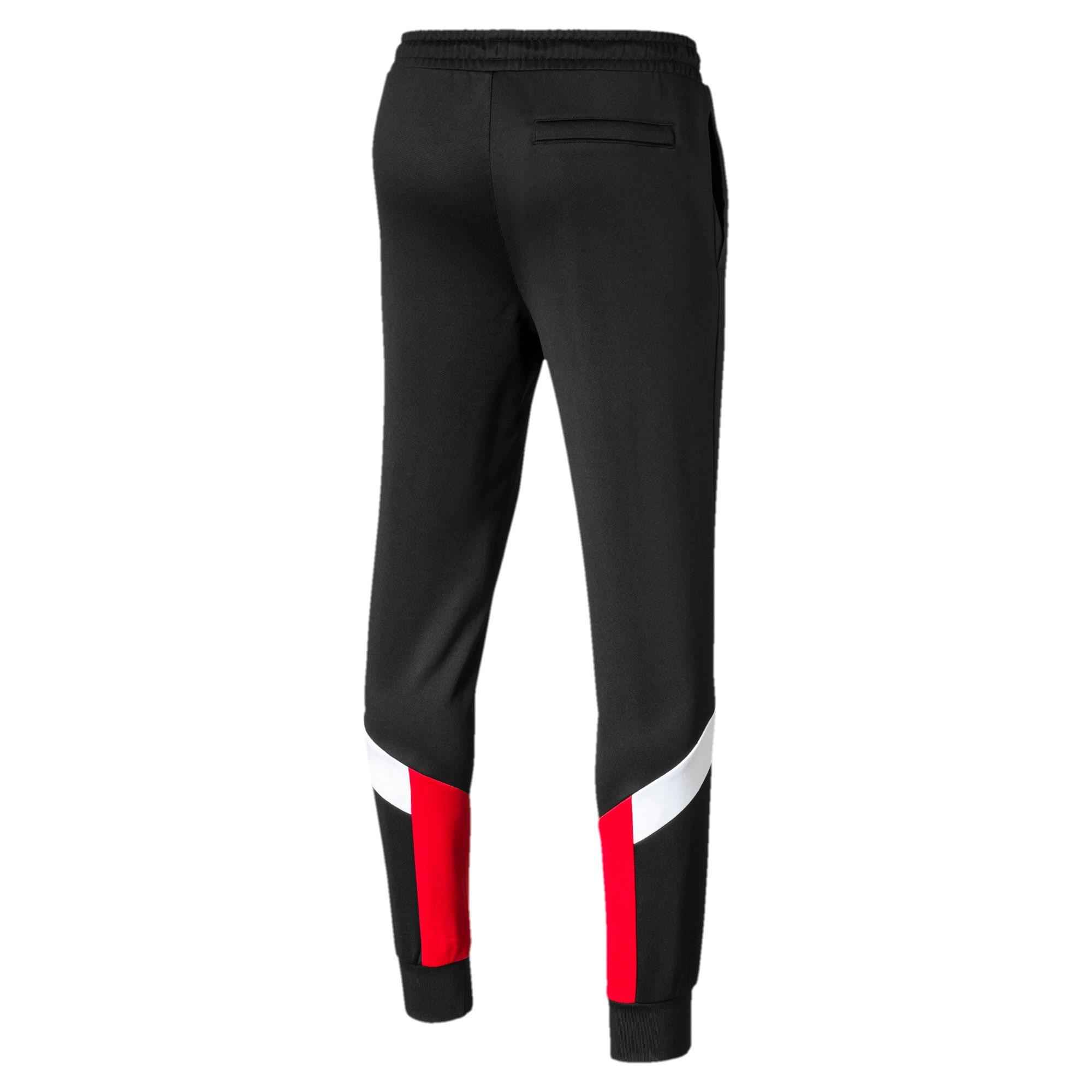 Thumbnail 5 of Iconic MCS Men's Track Pants, Puma Black-Red combo, medium