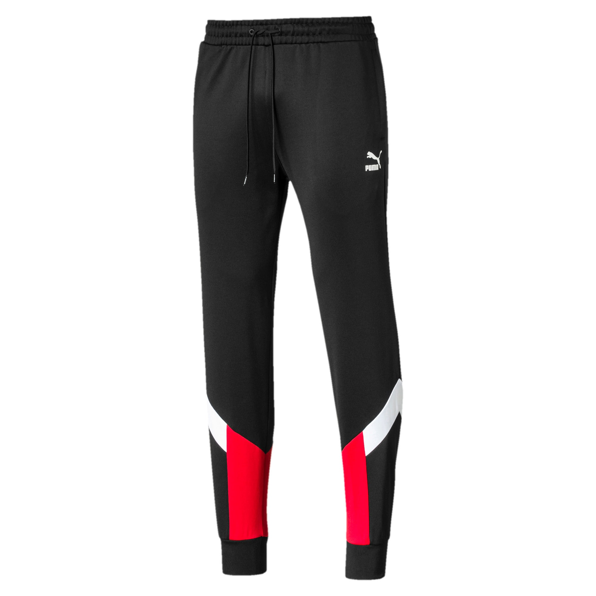 Thumbnail 4 of Iconic MCS Herren Gestrickte Trainingshose, Puma Black-Red combo, medium