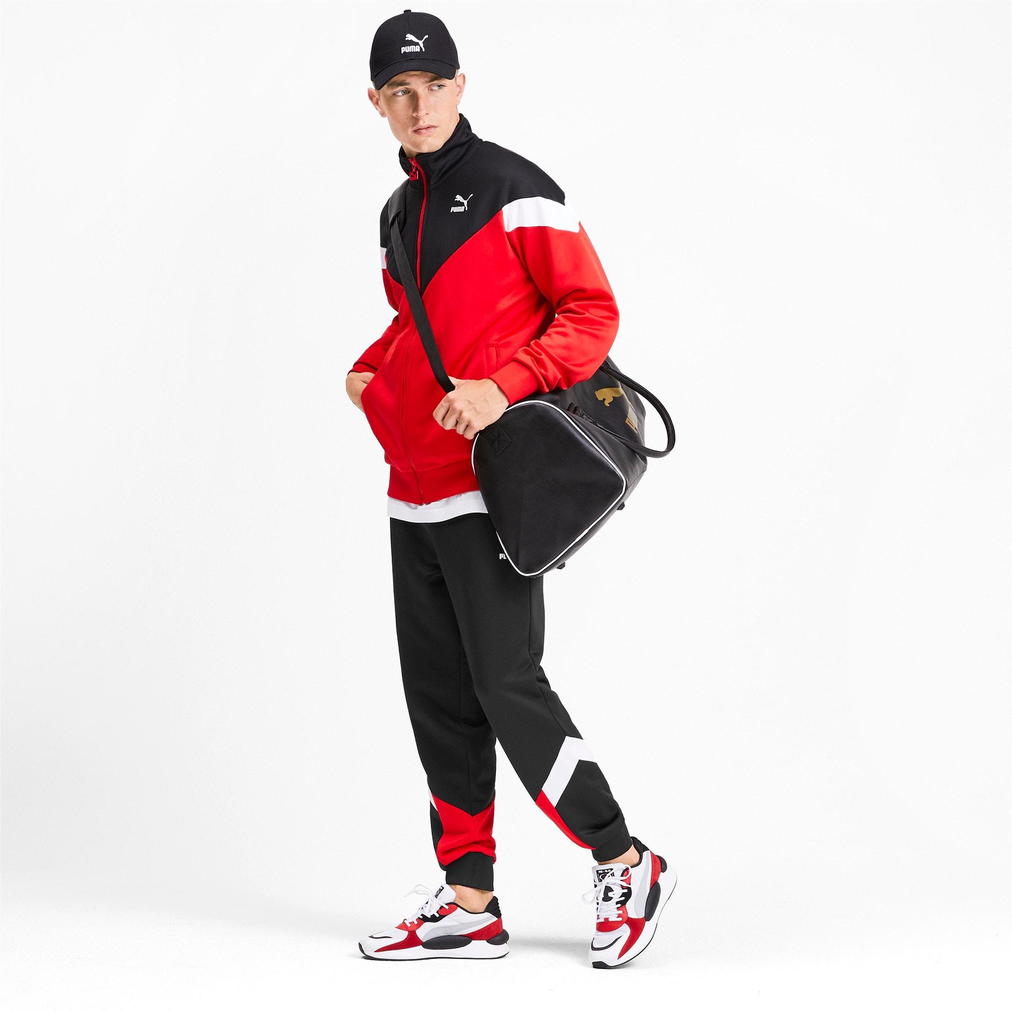 Thumbnail 3 of Iconic MCS Men's Track Pants, Puma Black-Red combo, medium