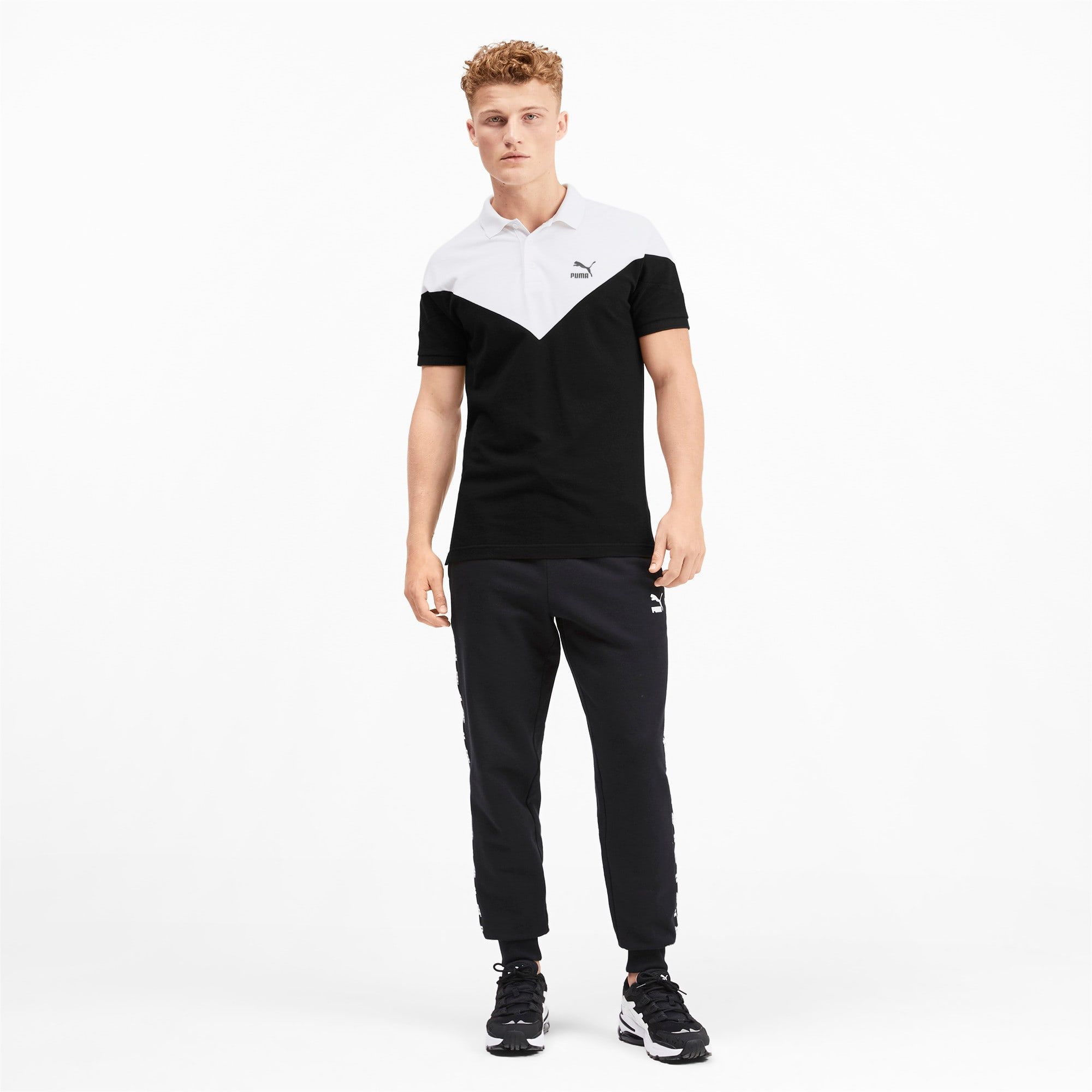 Miniatura 3 de Camiseta tipo polo MCS icónica de piqué para hombre, Puma Black, mediano