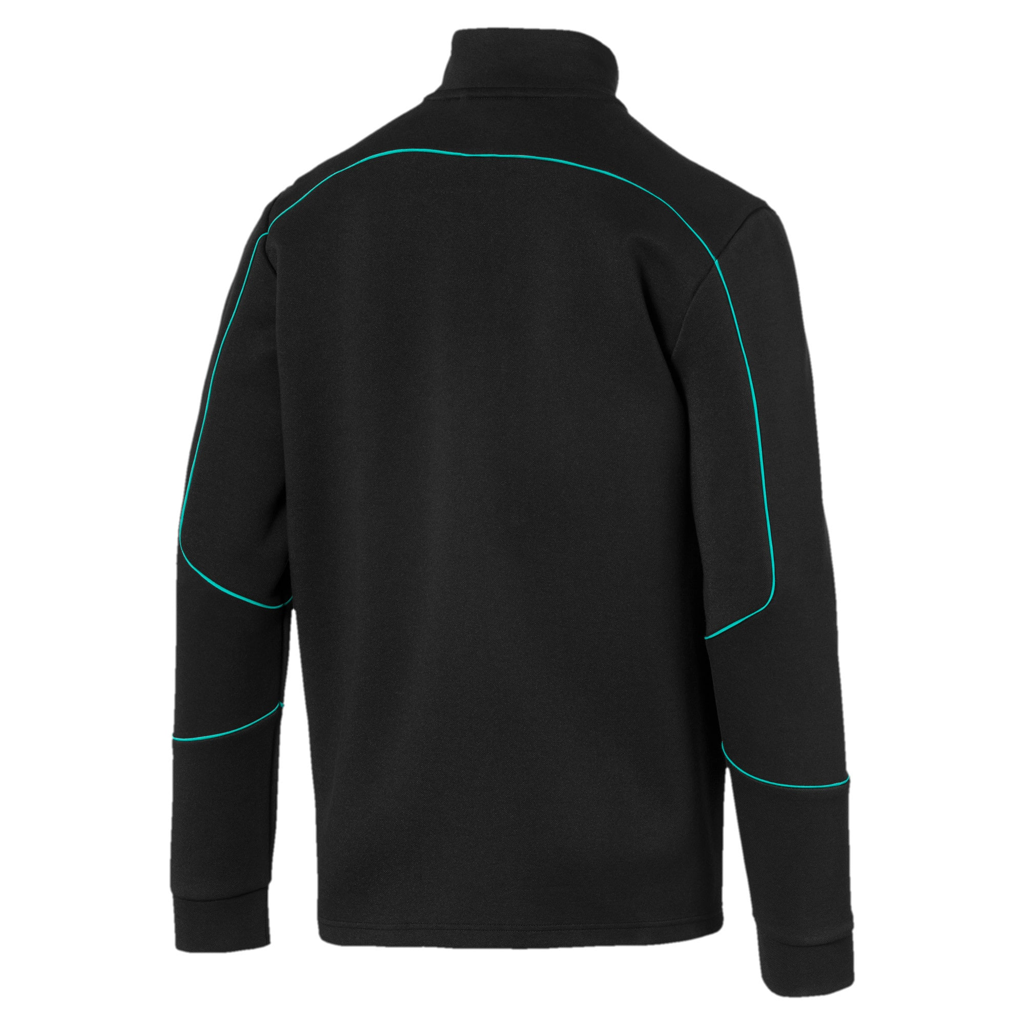 Thumbnail 5 of Mercedes AMG Petronas Men's Sweat Jacket, Puma Black, medium
