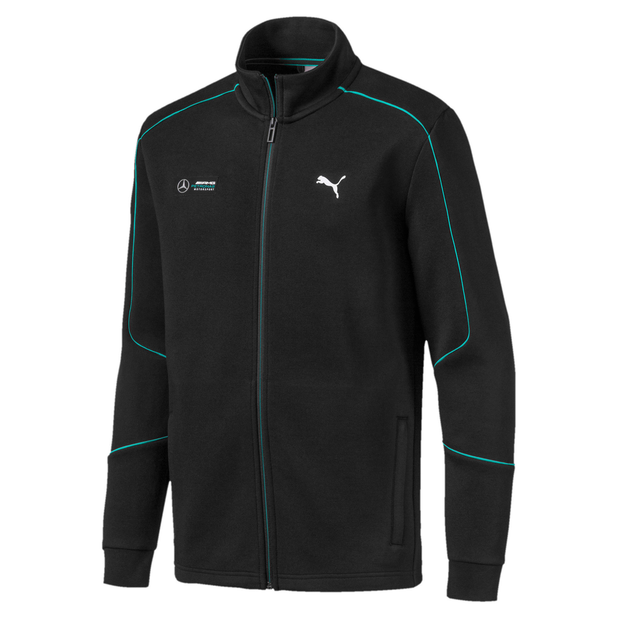 Thumbnail 4 of Mercedes AMG Petronas Men's Sweat Jacket, Puma Black, medium