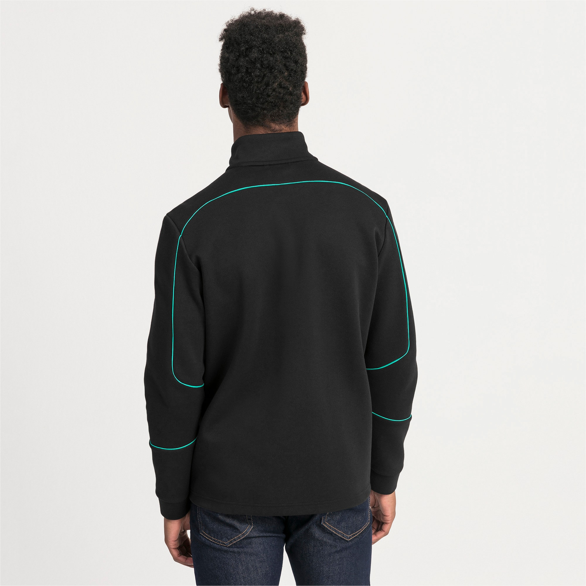 Thumbnail 2 of Mercedes AMG Petronas Men's Sweat Jacket, Puma Black, medium