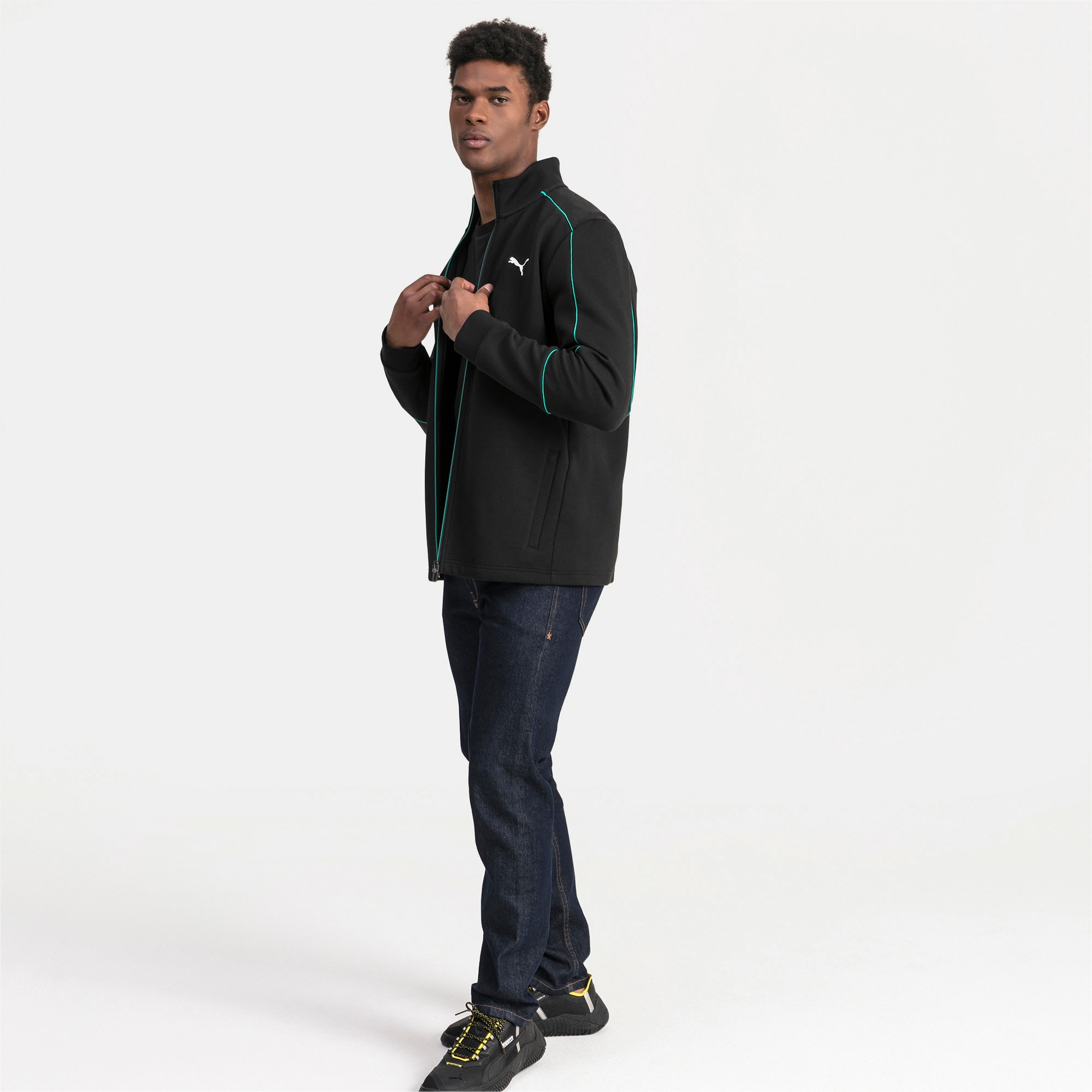 Thumbnail 3 of Mercedes AMG Petronas Men's Sweat Jacket, Puma Black, medium