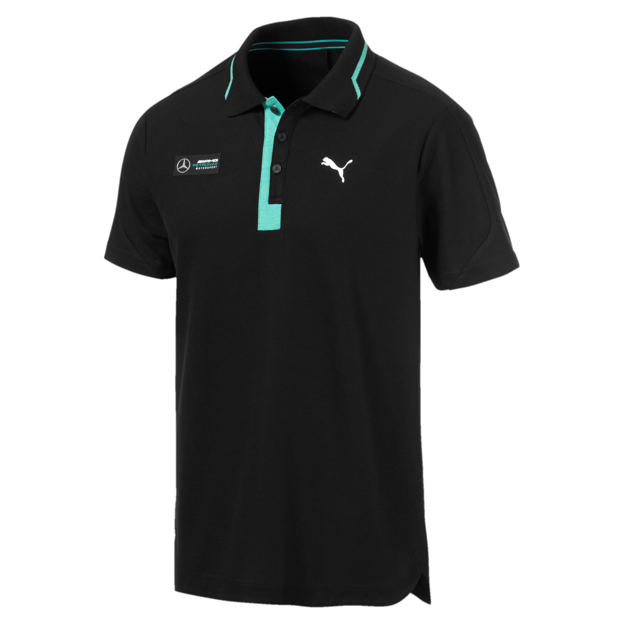Thumbnail 5 of Mercedes AMG Petronas Men's Polo Shirt, Puma Black, medium