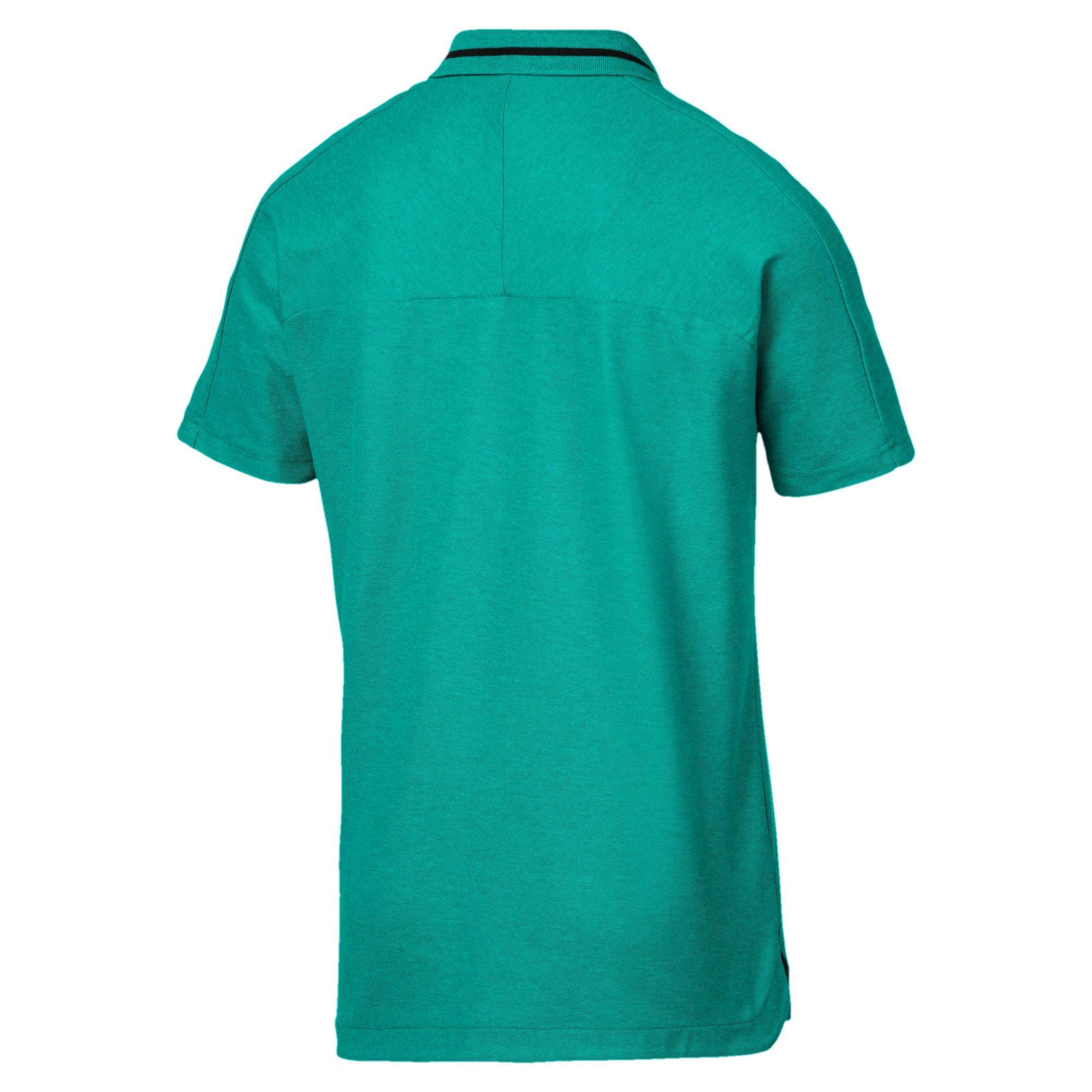 Thumbnail 5 of Mercedes AMG Petronas Men's Polo Shirt, Spectra Green Heather, medium