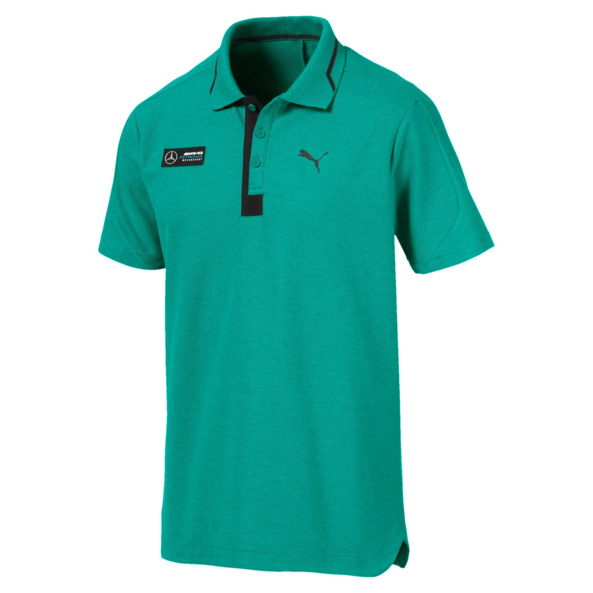 Thumbnail 4 of Mercedes AMG Petronas Men's Polo Shirt, Spectra Green Heather, medium