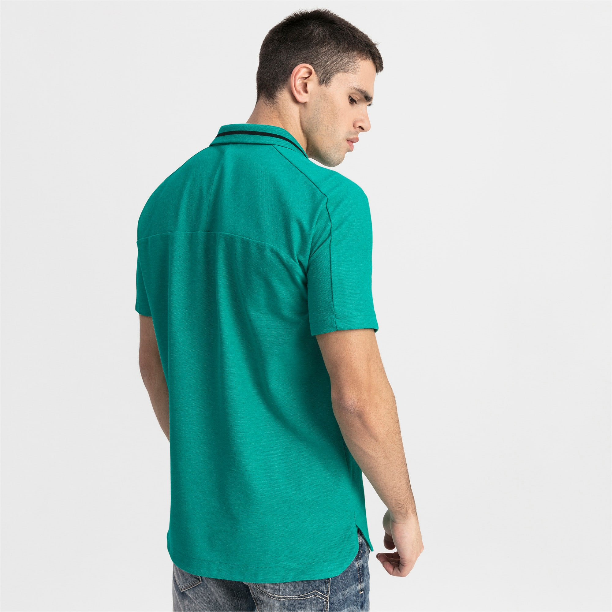 Thumbnail 2 of Mercedes AMG Petronas Men's Polo Shirt, Spectra Green Heather, medium