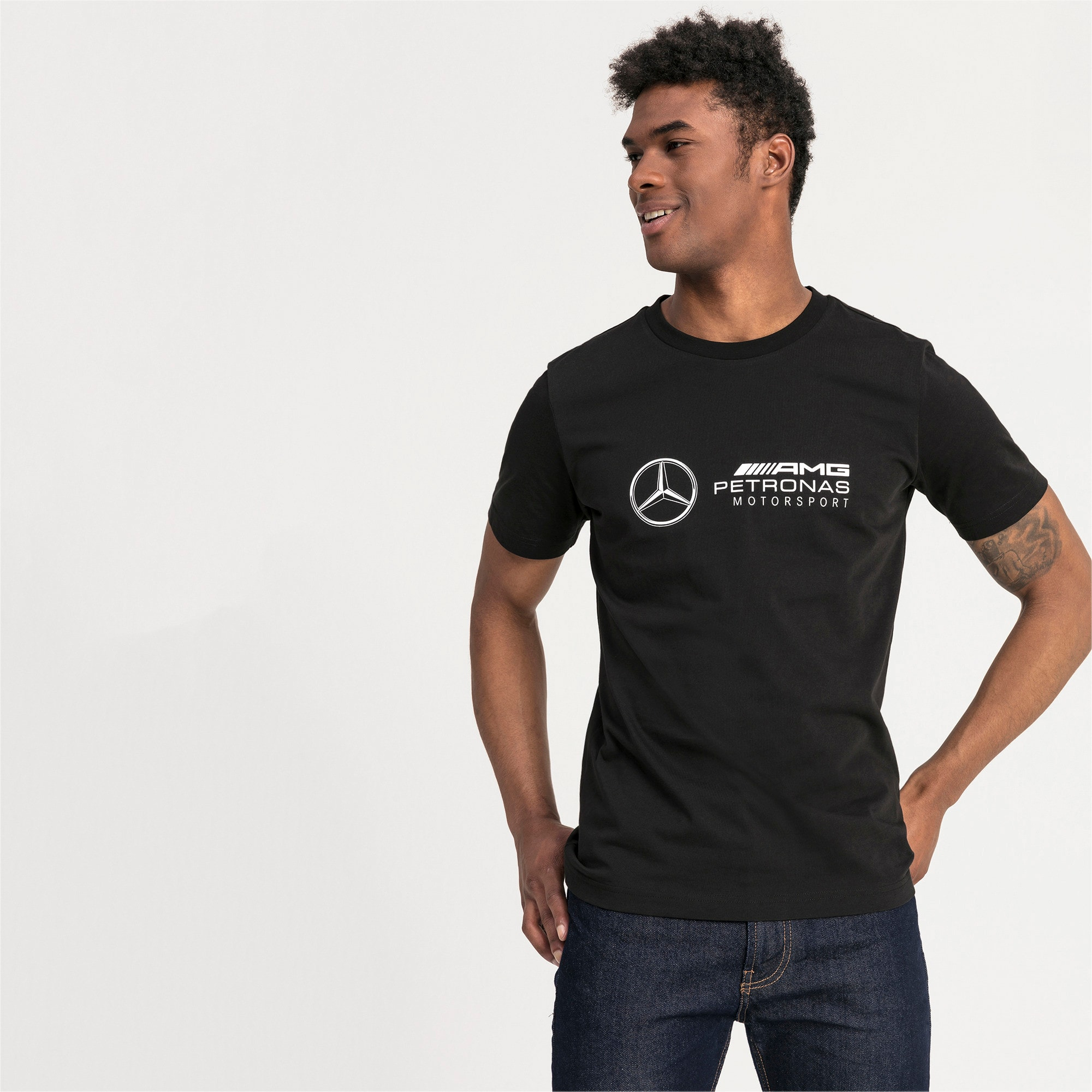 Thumbnail 1 of Mercedes AMG Petronas Short Sleeve Men's Tee, Puma Black, medium