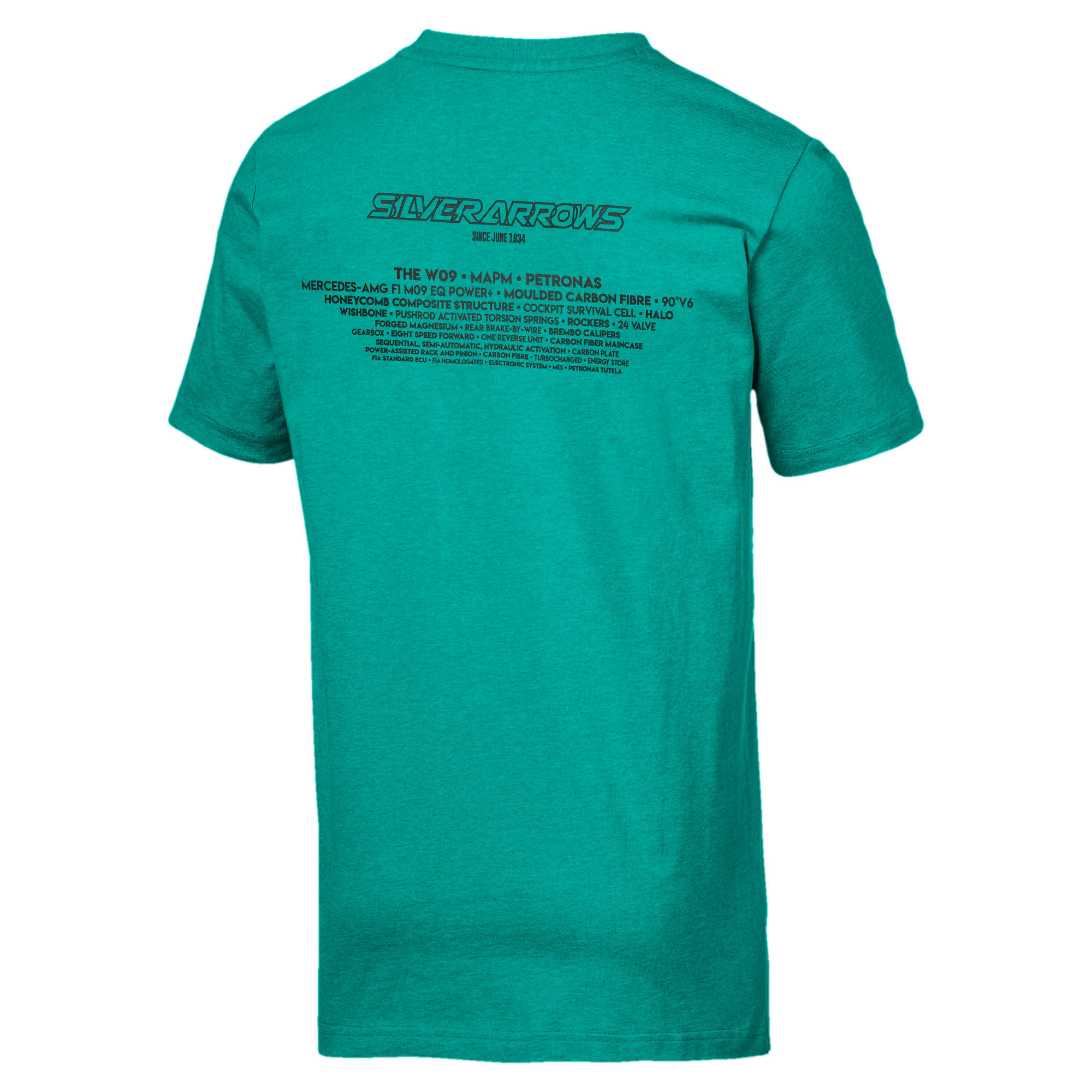 Thumbnail 5 of T-shirt Mercedes AMG Petronas uomo, Spectra Green Heather, medium