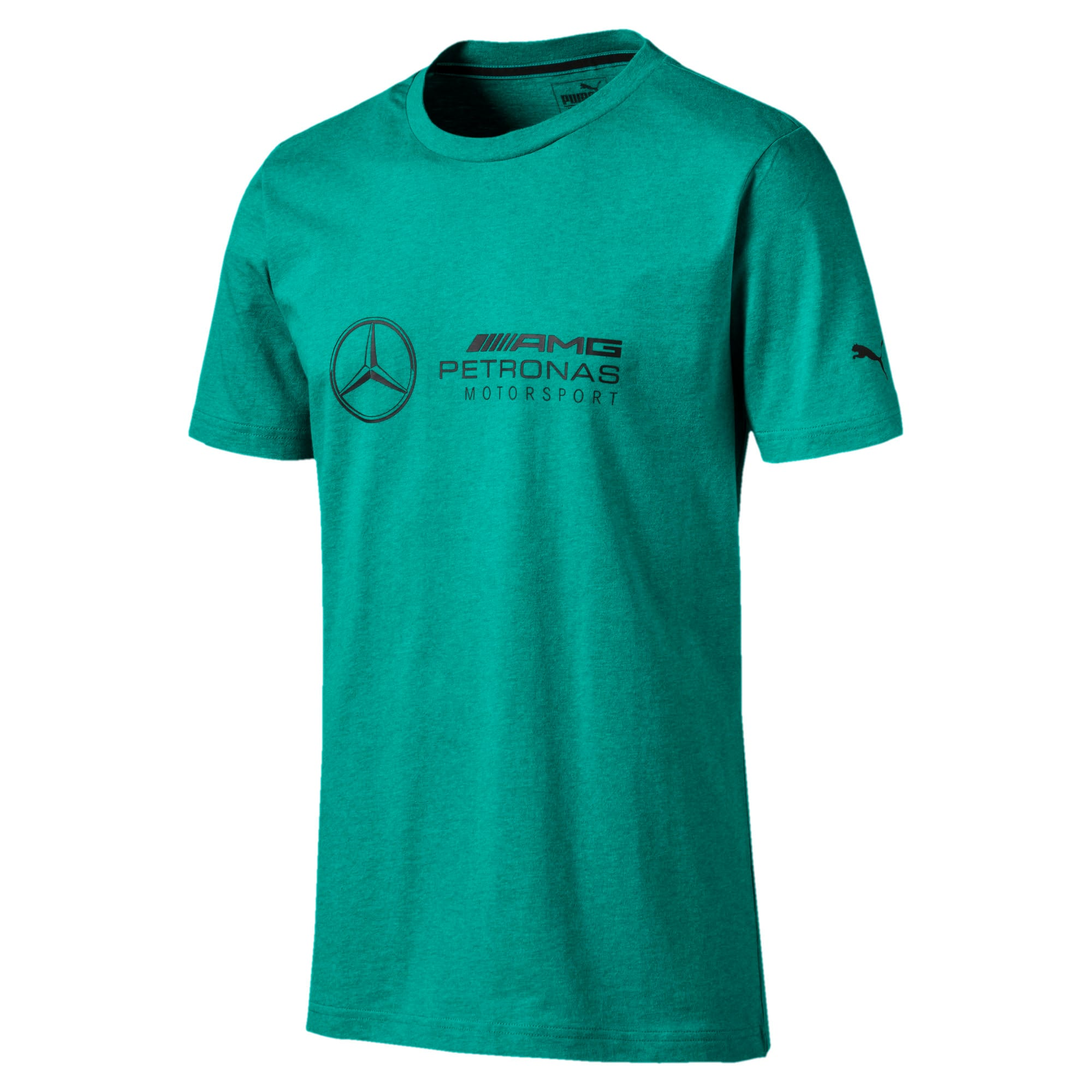 Thumbnail 4 of T-shirt Mercedes AMG Petronas uomo, Spectra Green Heather, medium
