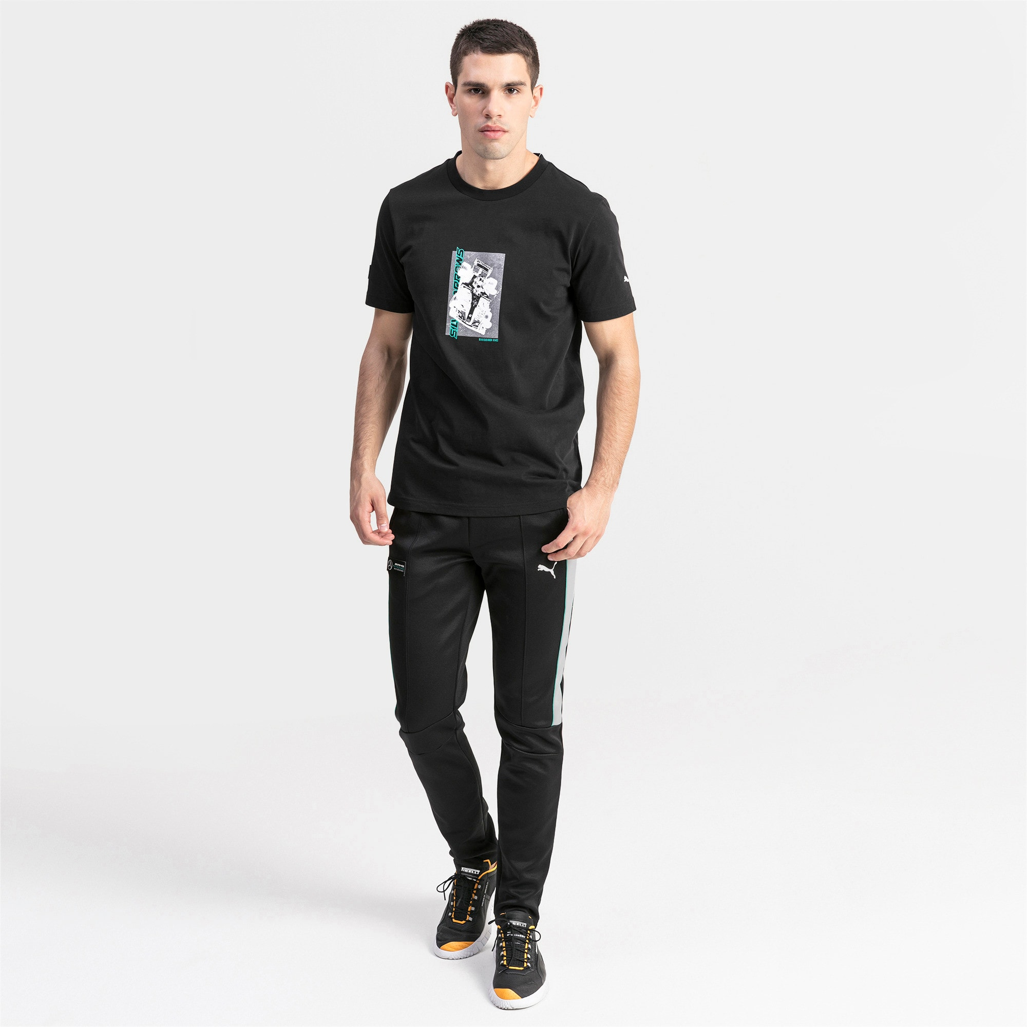 Thumbnail 3 of T-shirt con stampa Mercedes AMG Petronas uomo, Puma Black, medium