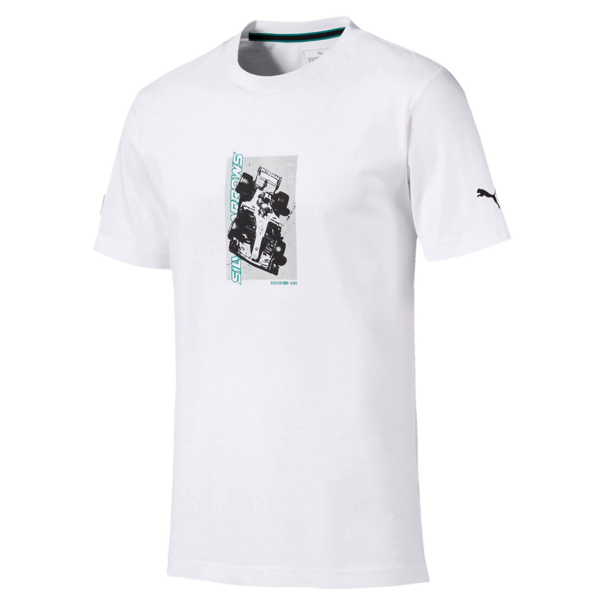 Mercedes AMG Petronas Graphic Men's Tee, Puma White, large