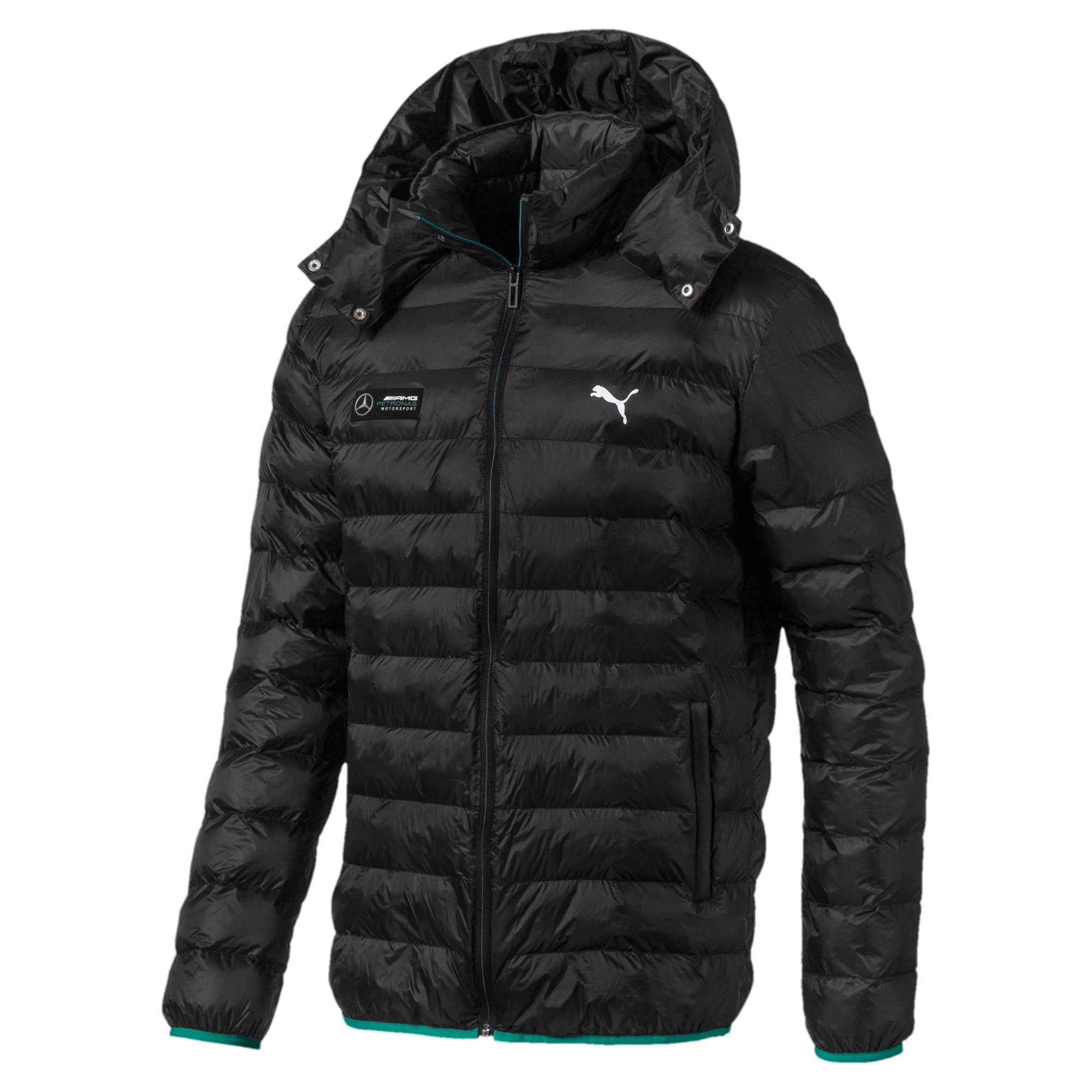 Thumbnail 4 of Mercedes AMG Petronas Eco PackLIite Men's Jacket, Puma Black, medium