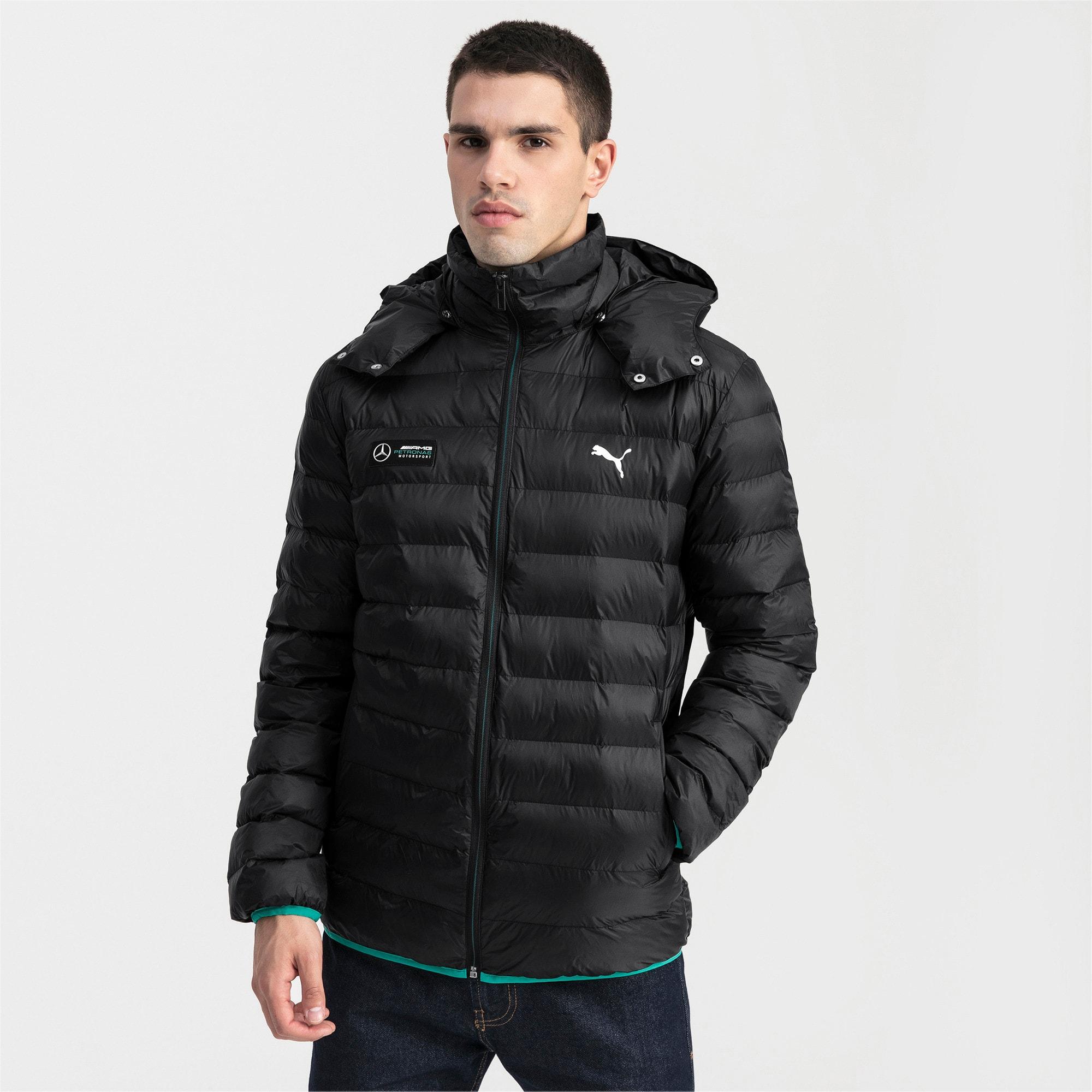 Thumbnail 1 of Mercedes AMG Petronas Eco PackLIite Men's Jacket, Puma Black, medium