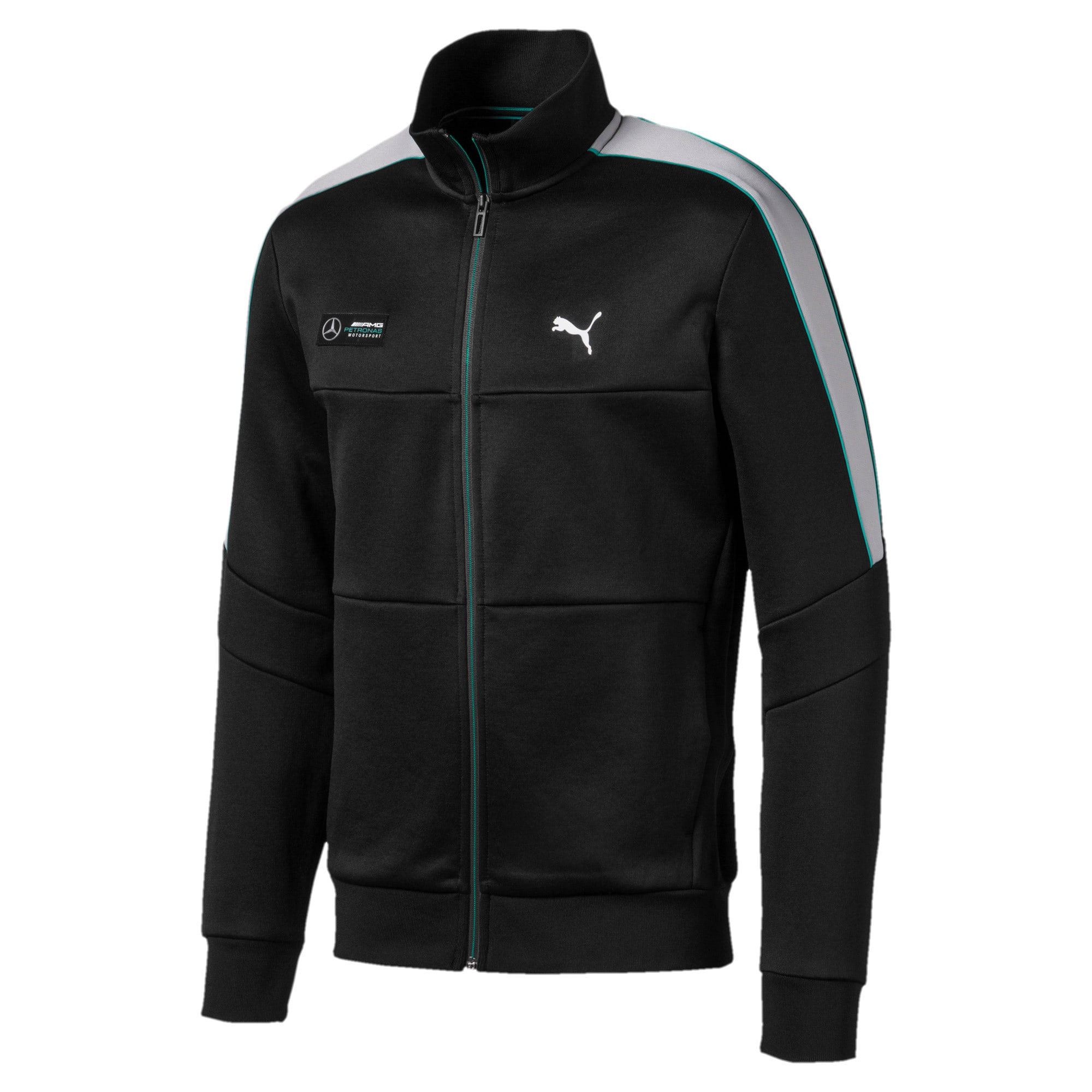 Thumbnail 1 of Mercedes AMG Petronas Men's T7 Track Jacket, Puma Black, medium