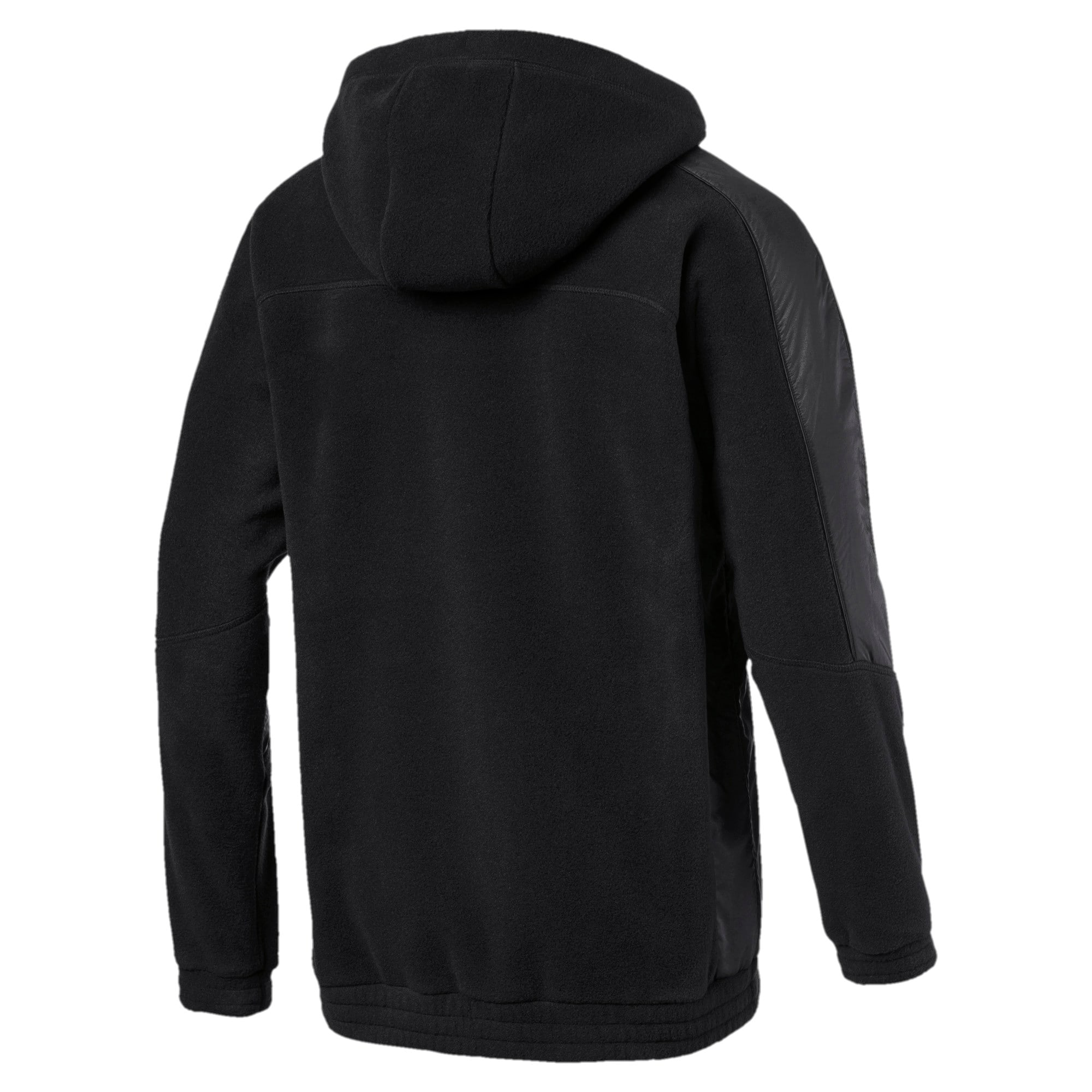 Thumbnail 2 of Mercedes AMG Petronas RCT Tech Fleece Men's Pullover, Puma Black, medium