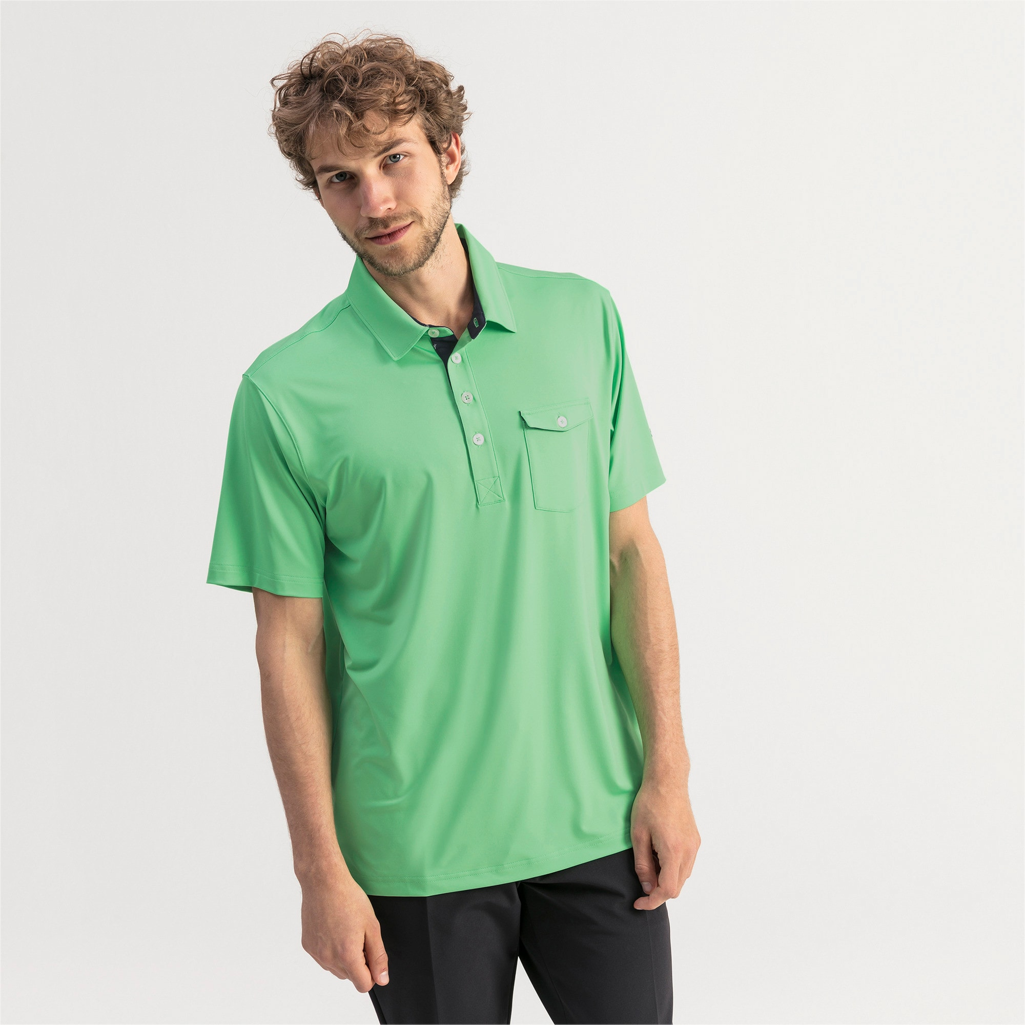 Thumbnail 1 of Donegal Men's Golf Polo, Irish Green, medium