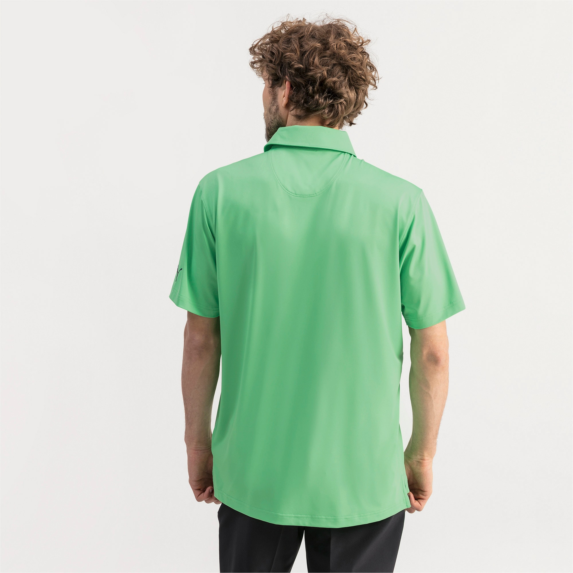Thumbnail 2 of Donegal Men's Golf Polo, Irish Green, medium