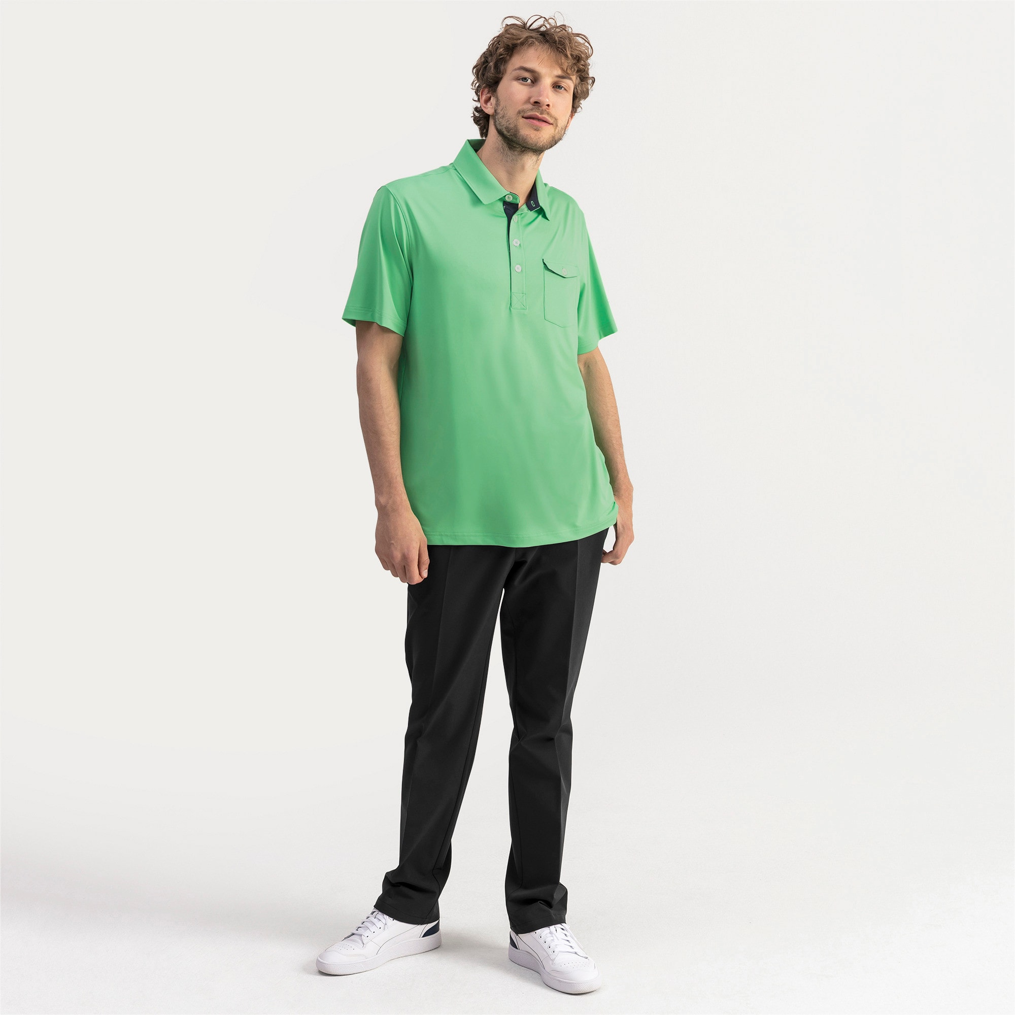 Thumbnail 3 of Donegal Men's Golf Polo, Irish Green, medium