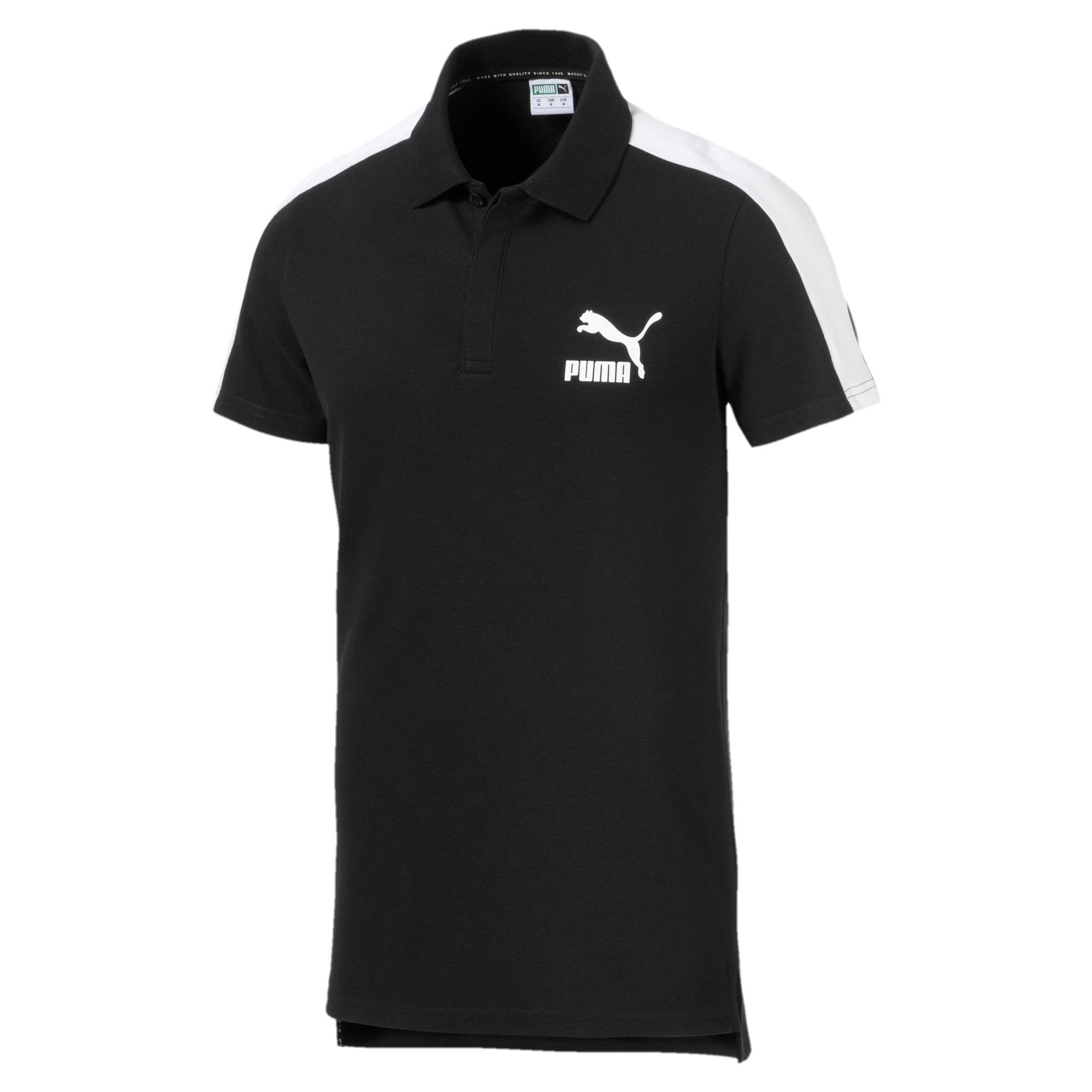 Miniatura 4 de Camiseta tipo polo T7 icónica para hombre, Puma Black, mediano