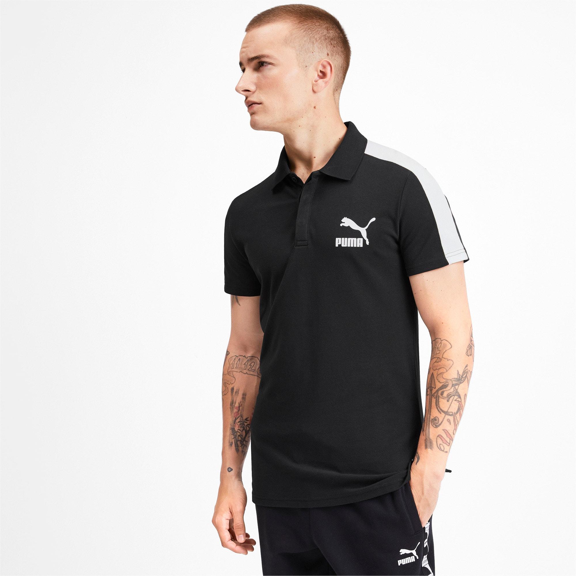 Miniatura 1 de Camiseta tipo polo T7 icónica para hombre, Puma Black, mediano
