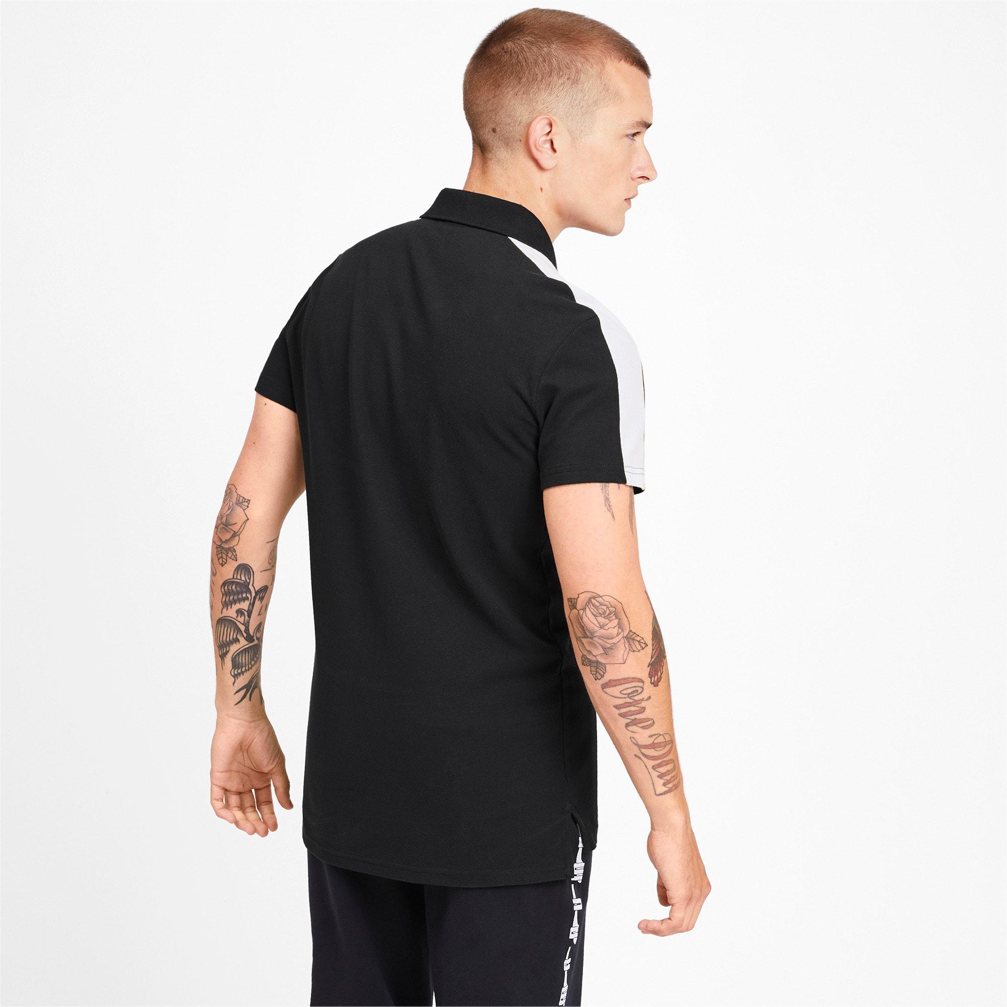 Miniatura 2 de Camiseta tipo polo T7 icónica para hombre, Puma Black, mediano