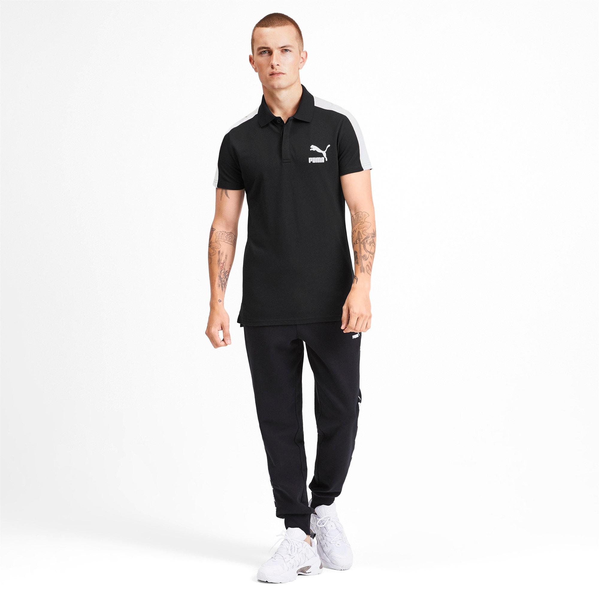 Miniatura 3 de Camiseta tipo polo T7 icónica para hombre, Puma Black, mediano