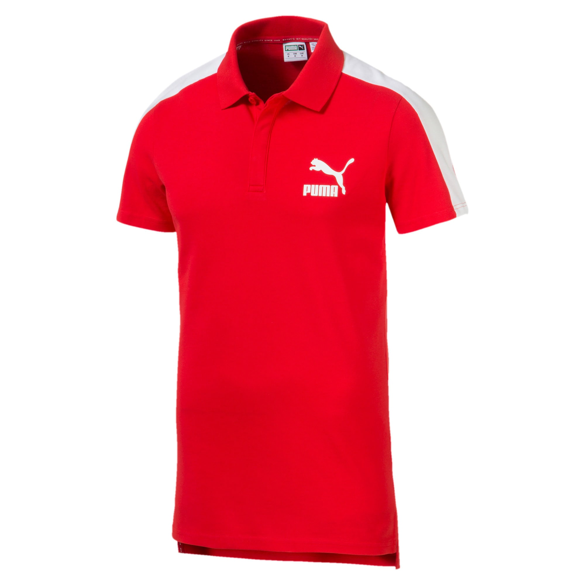 Miniatura 1 de Camiseta tipo polo T7 icónica para hombre, High Risk Red, mediano