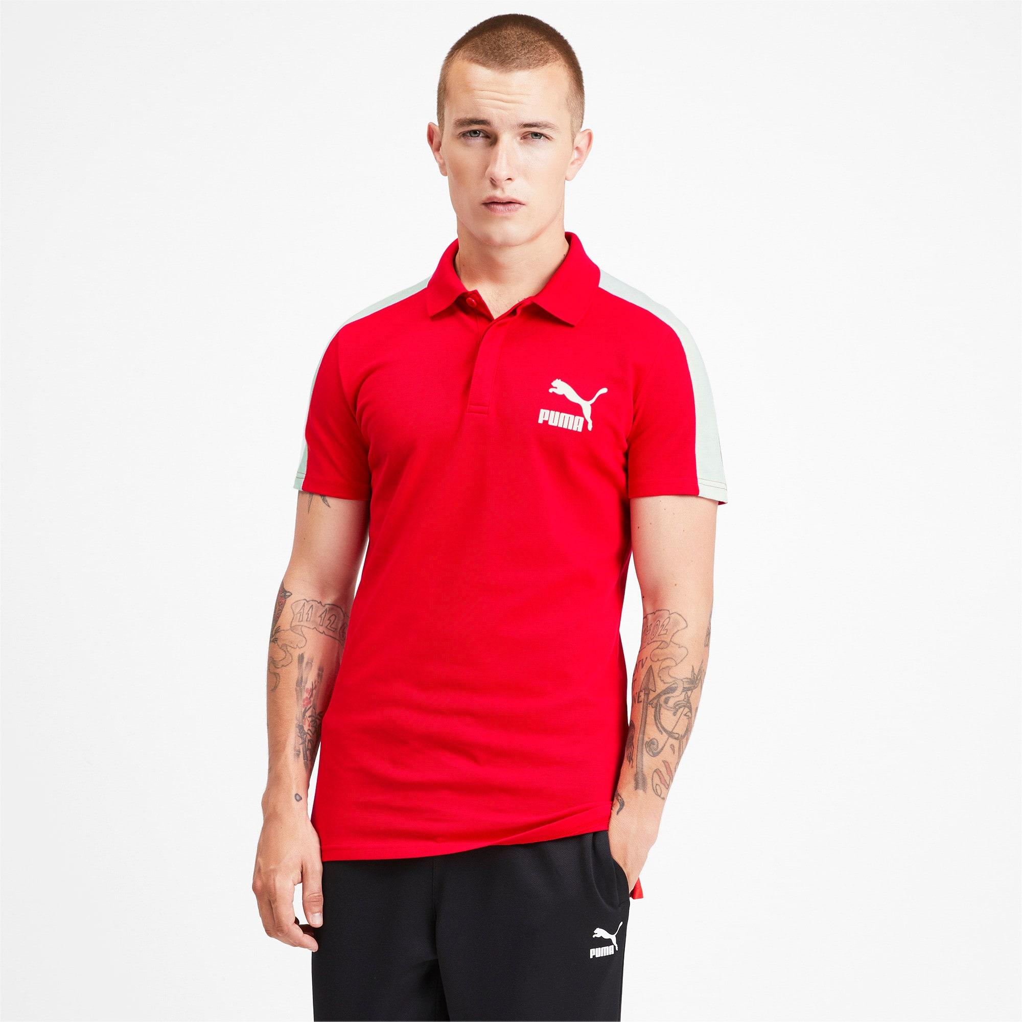 Miniatura 2 de Camiseta tipo polo T7 icónica para hombre, High Risk Red, mediano