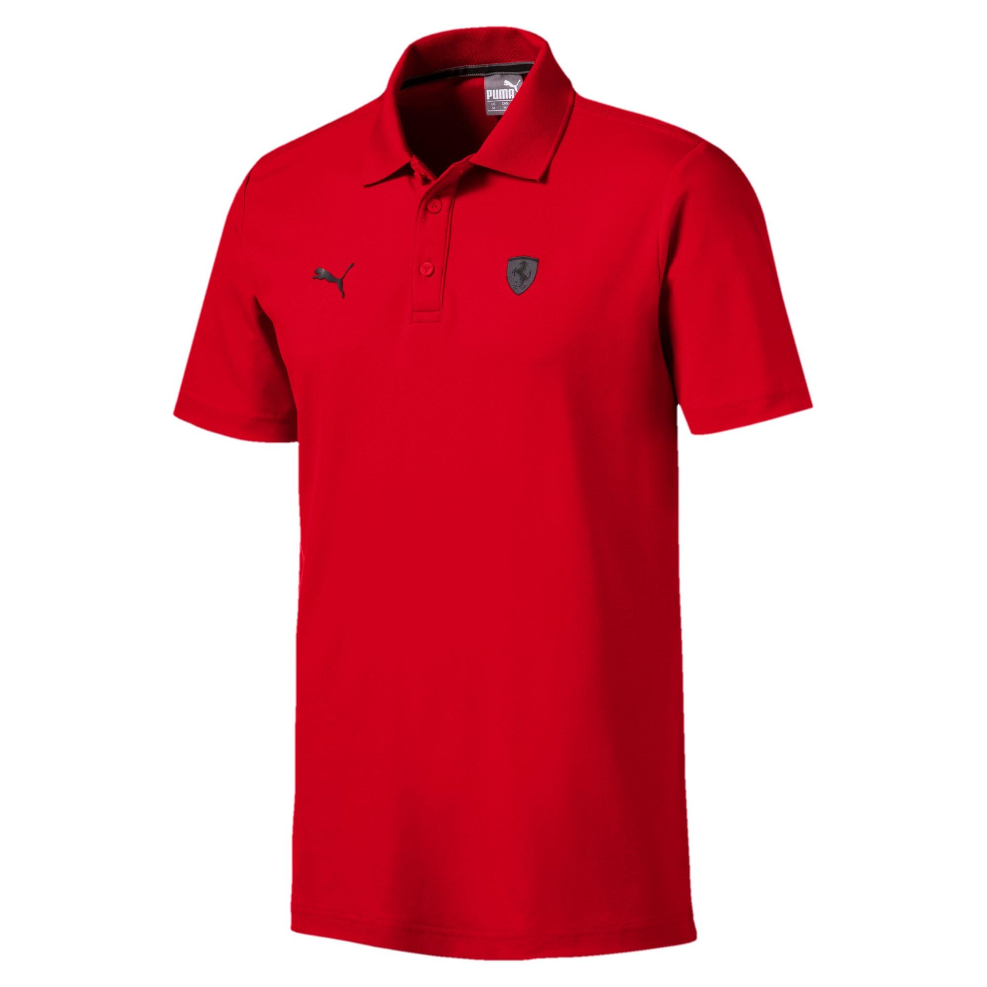 Thumbnail 5 of Ferrari Men's Polo Shirt, Rosso Corsa, medium