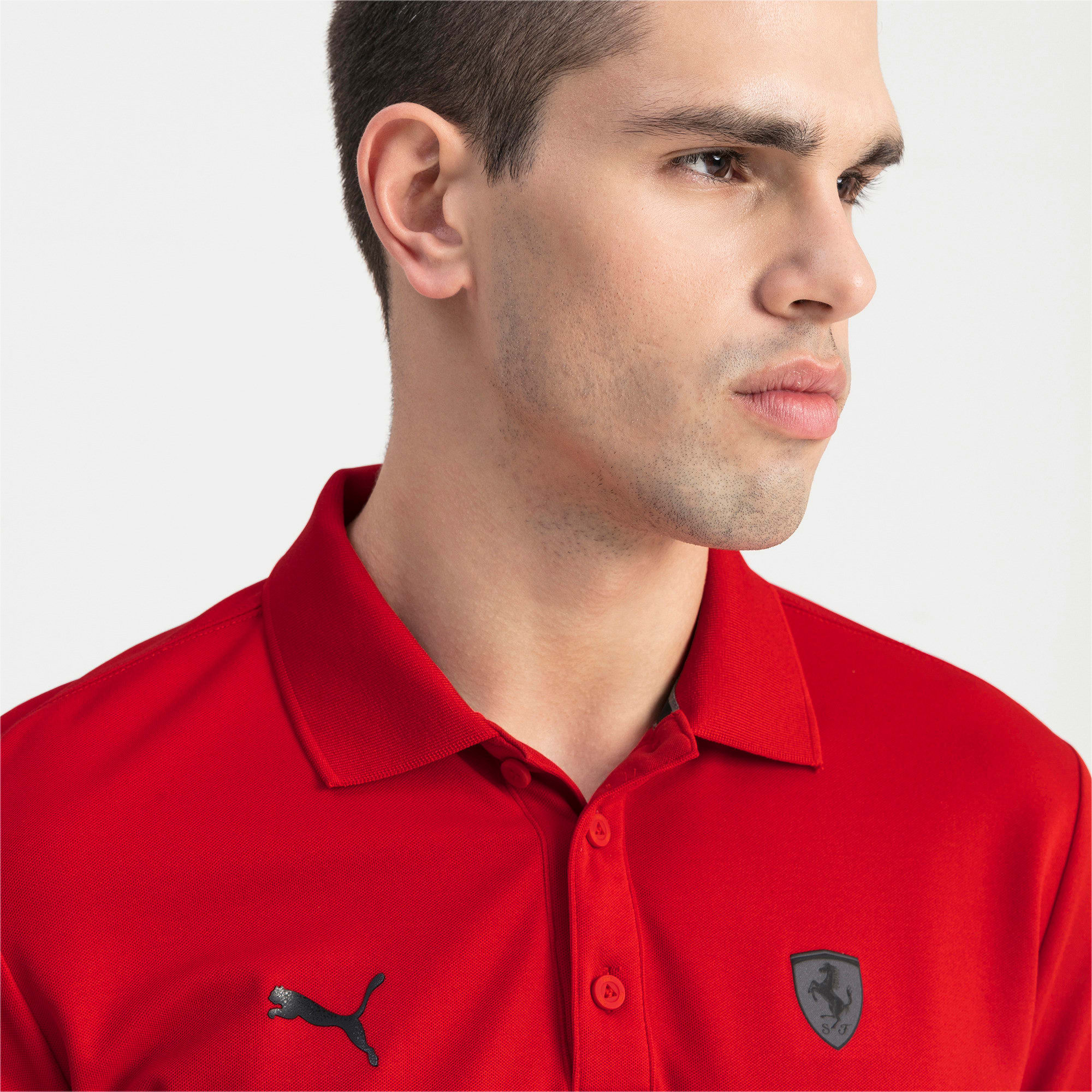 Thumbnail 4 of Ferrari Men's Polo Shirt, Rosso Corsa, medium