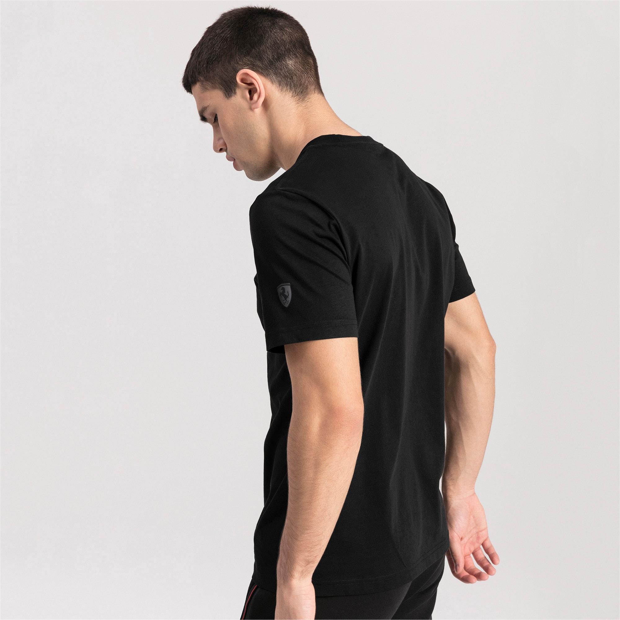 Thumbnail 2 of Ferrari Big Shield T-shirt voor heren, Puma Black, medium