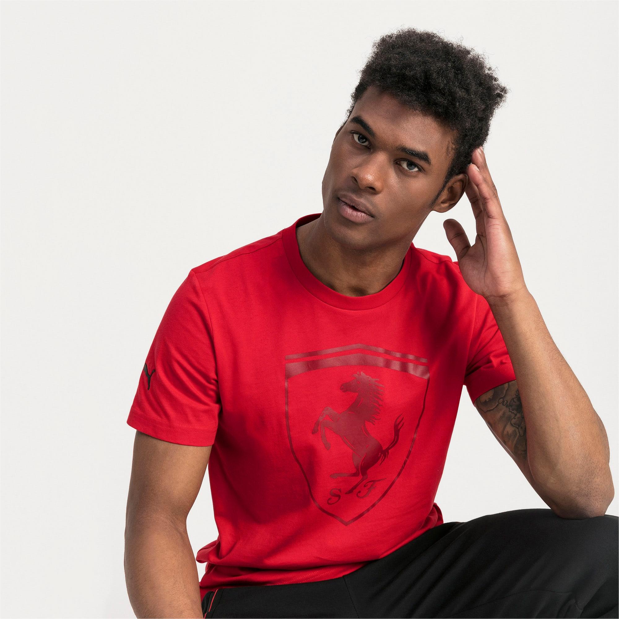 Thumbnail 1 of T-shirt Ferrari Big Shield uomo, Rosso Corsa, medium