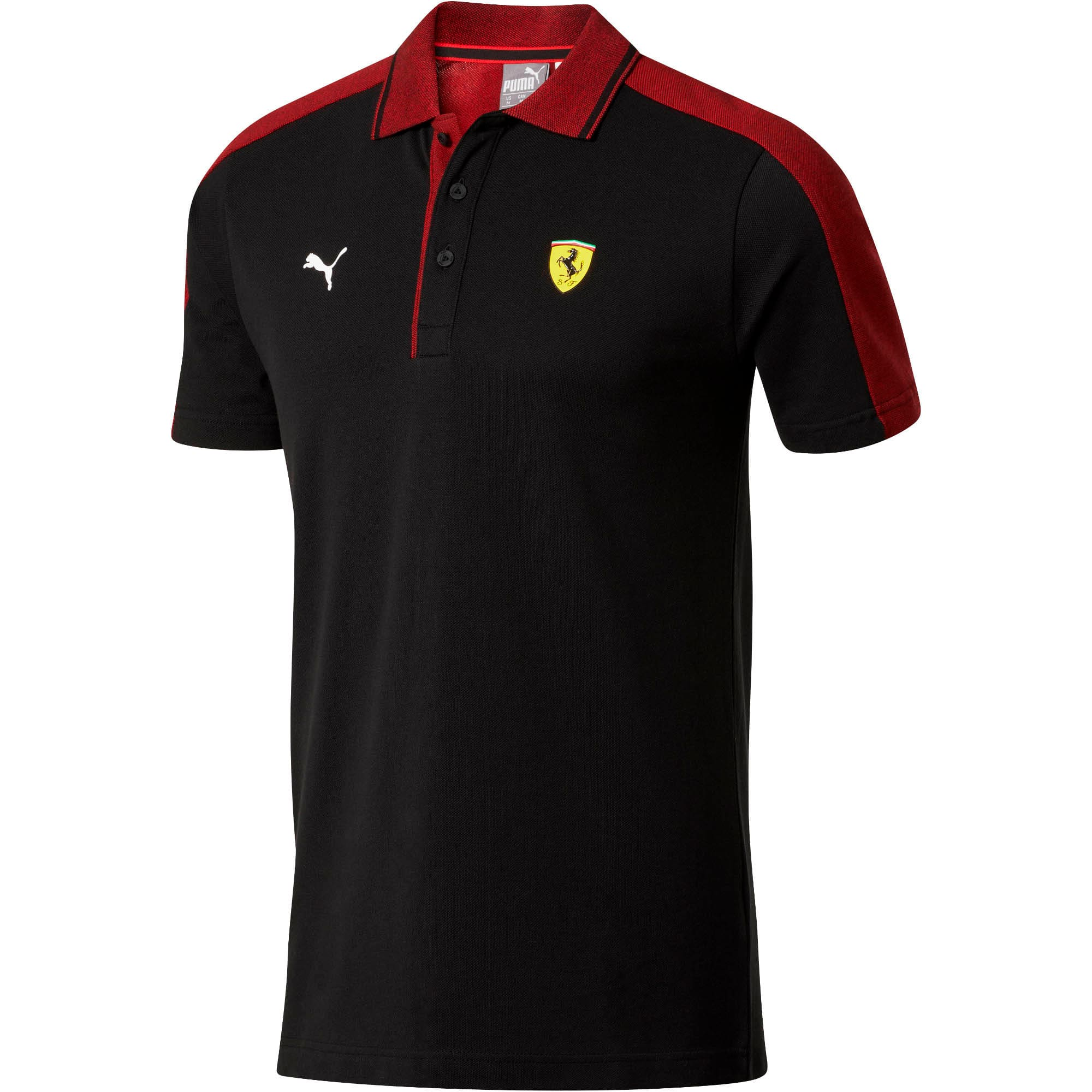 Miniatura 4 de Camiseta tipo polo Scuderia Ferrari Mix para hombre, Puma Black, mediano