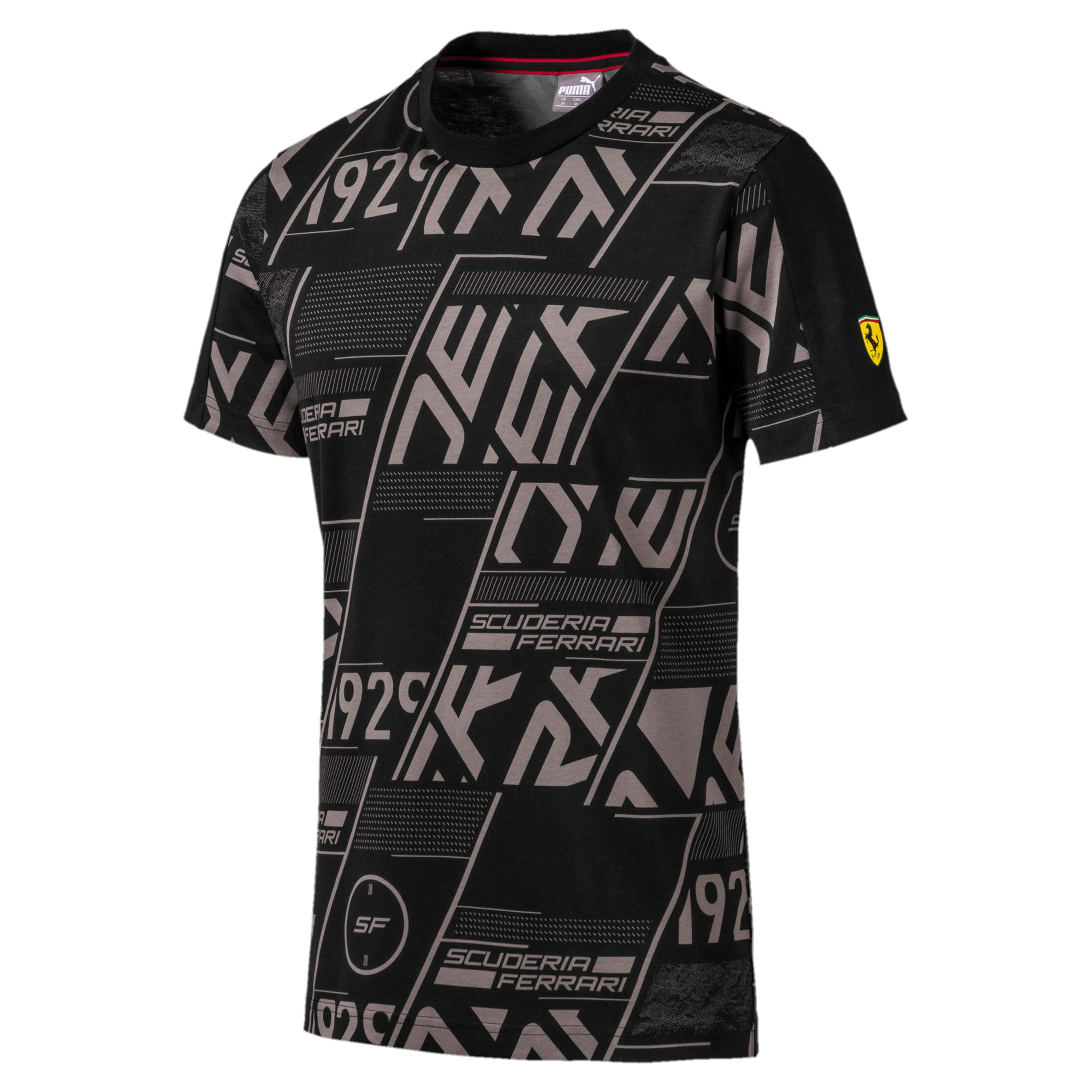 Miniatura 4 de Camiseta Scuderia Ferrari AOP para hombre, Puma Black, mediano
