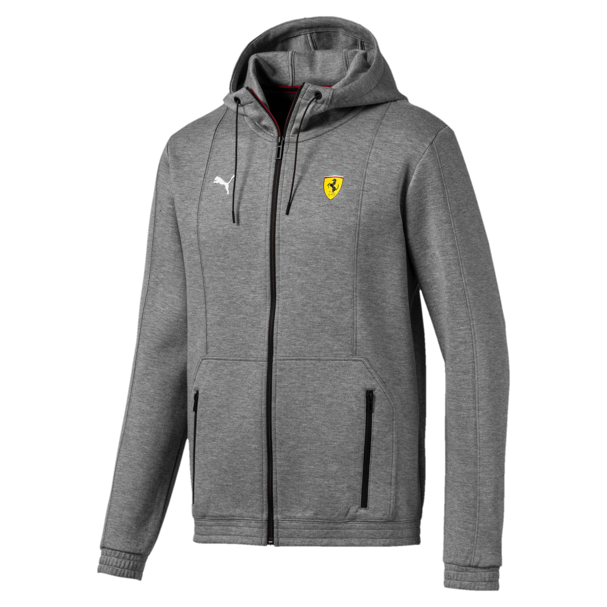 Thumbnail 5 of Ferrari Hooded Men's Sweat Jacket, Medium Gray Heather, medium