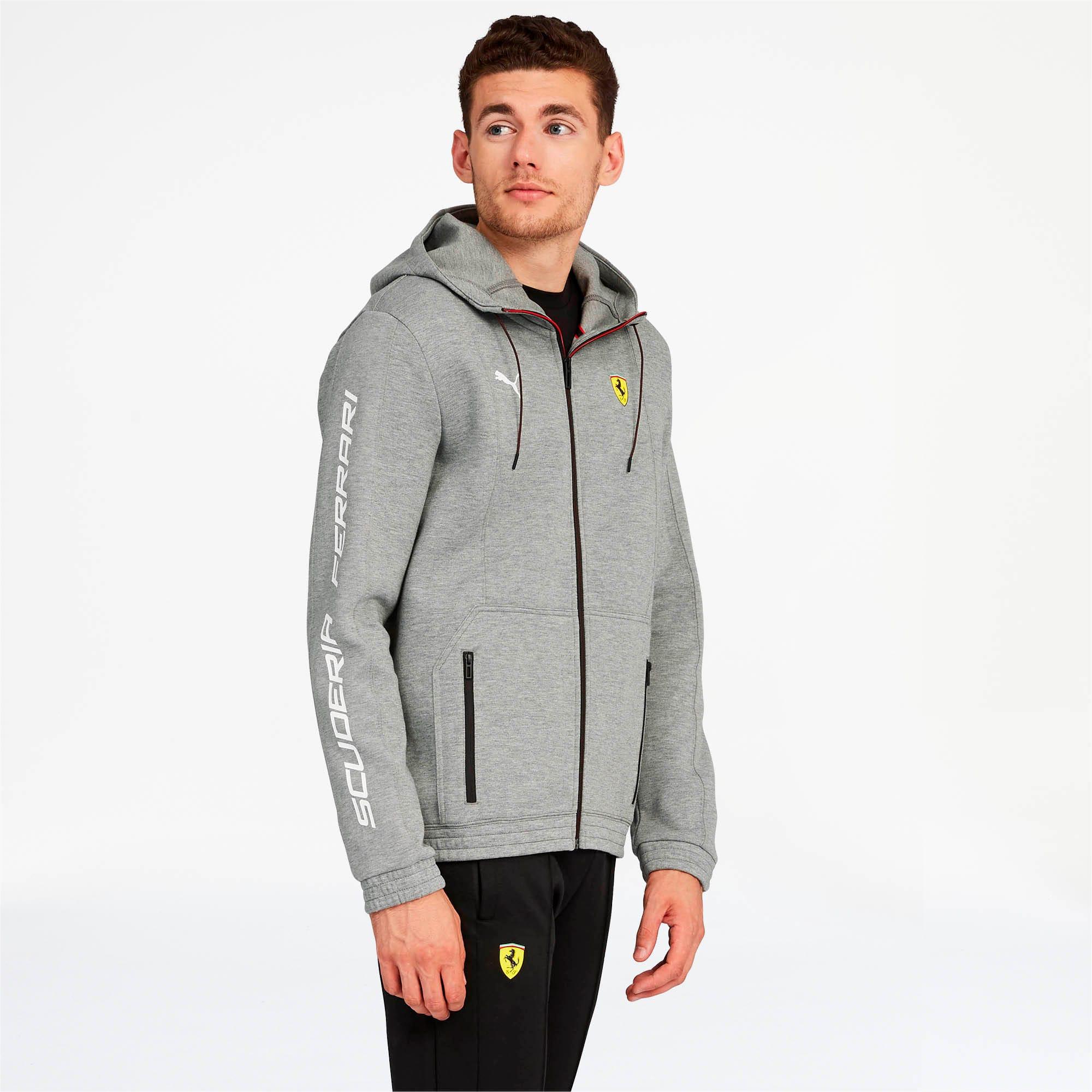 Miniatura 1 de Chaqueta deportiva Scuderia Ferrari con capucha, para hombre, Medium Gray Heather, mediano